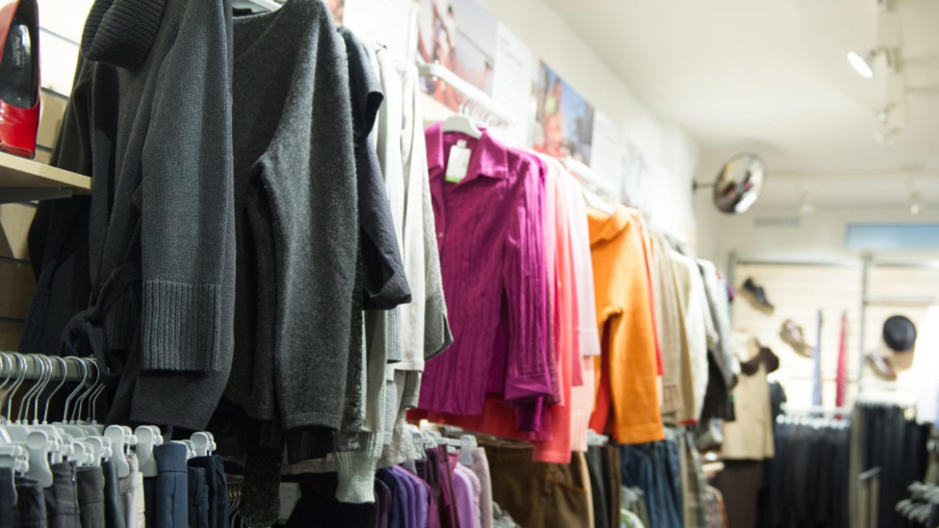 Oxfam Fashionshop Ulm - Innenansicht