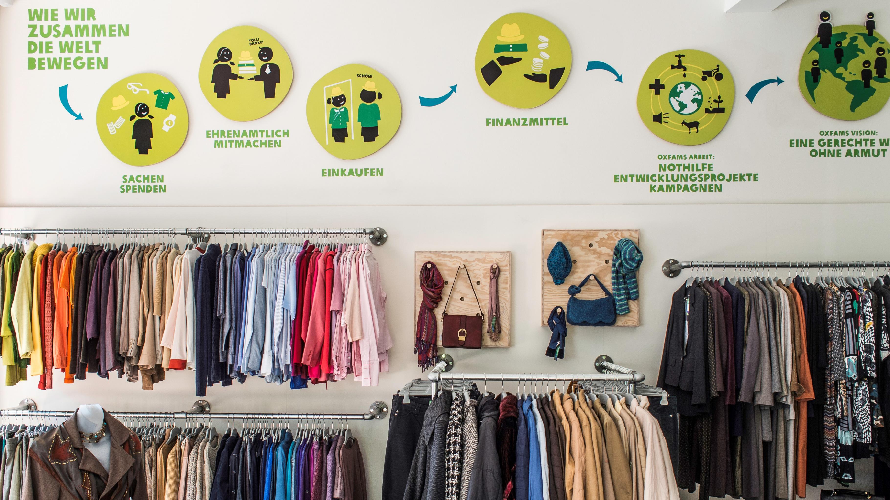 Mode mit Mehrwert im Oxfam Shop