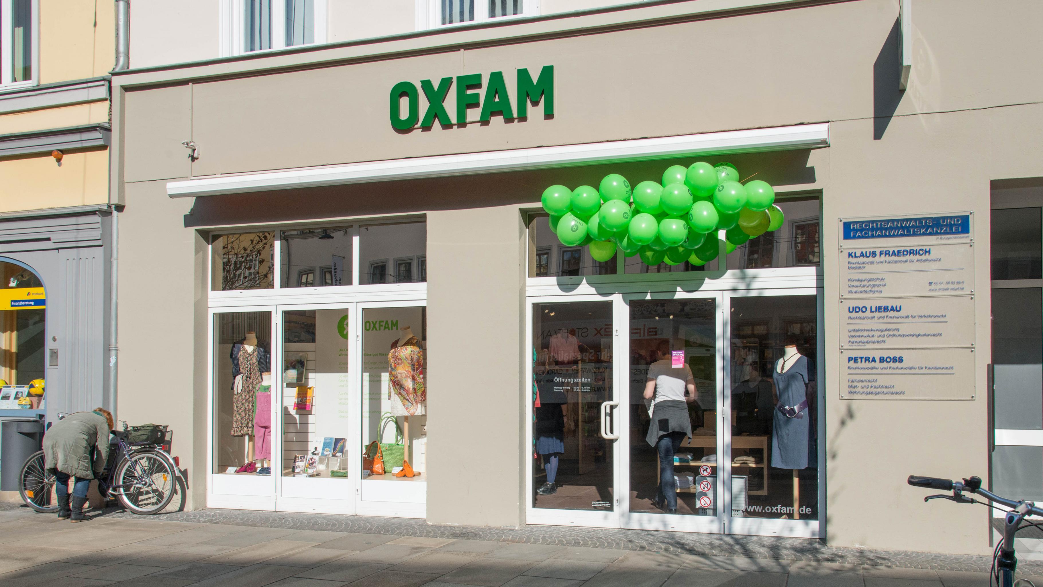 Oxfam Shop Erfurt - Außenansicht