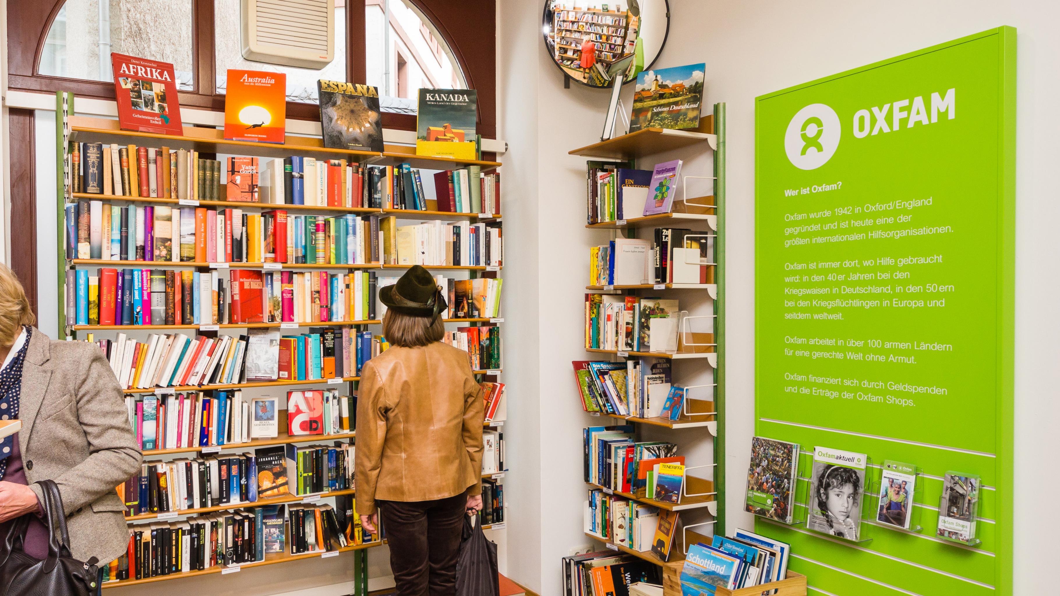 Oxfam Shop Mainz - Innenansicht