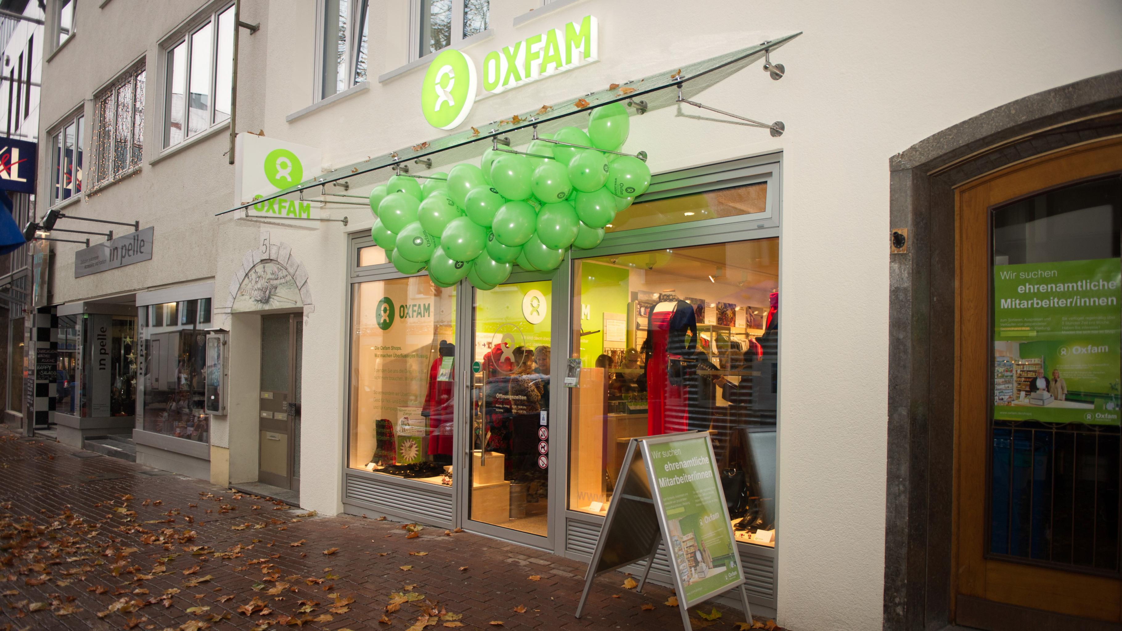 Oxfam Fashionshop Ulm - Außenansicht