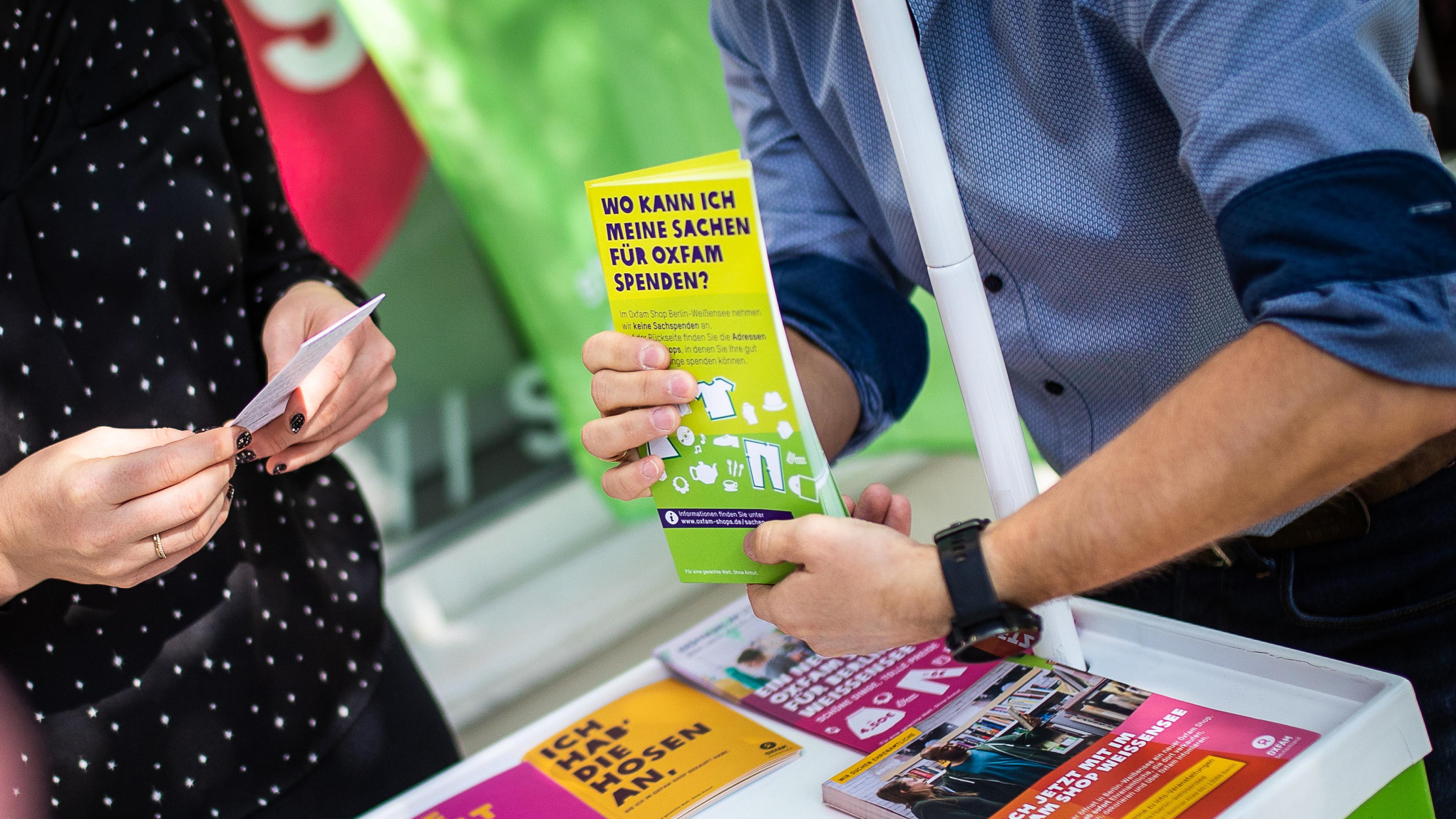 In welchen Berliner Oxfam Shops Sachen gespendet werden können