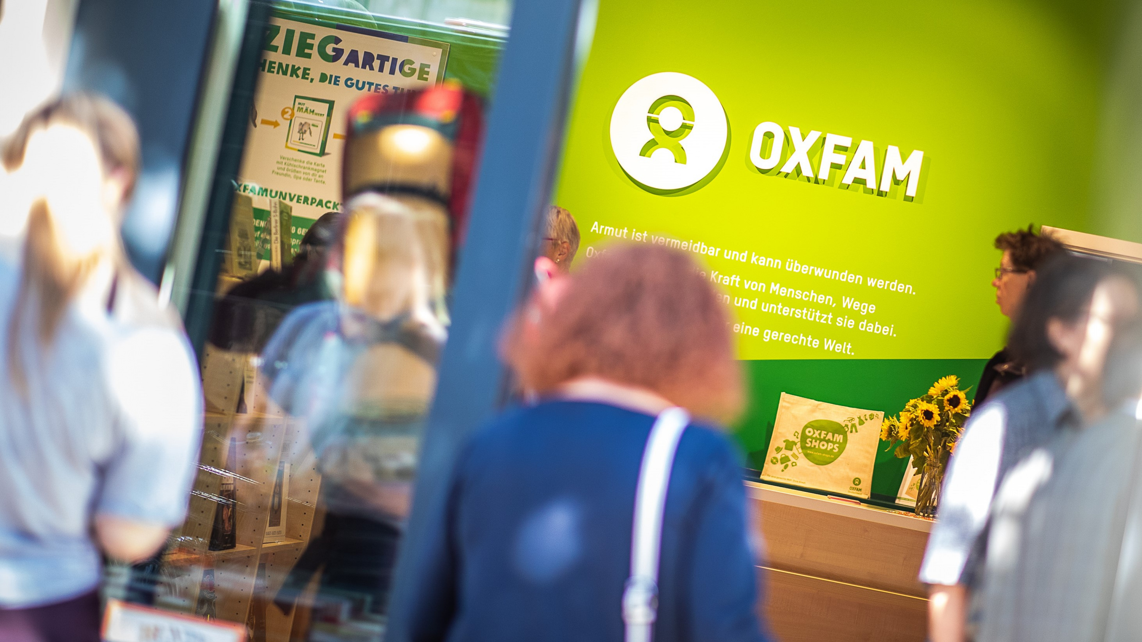 Blick in Oxfam Shop
