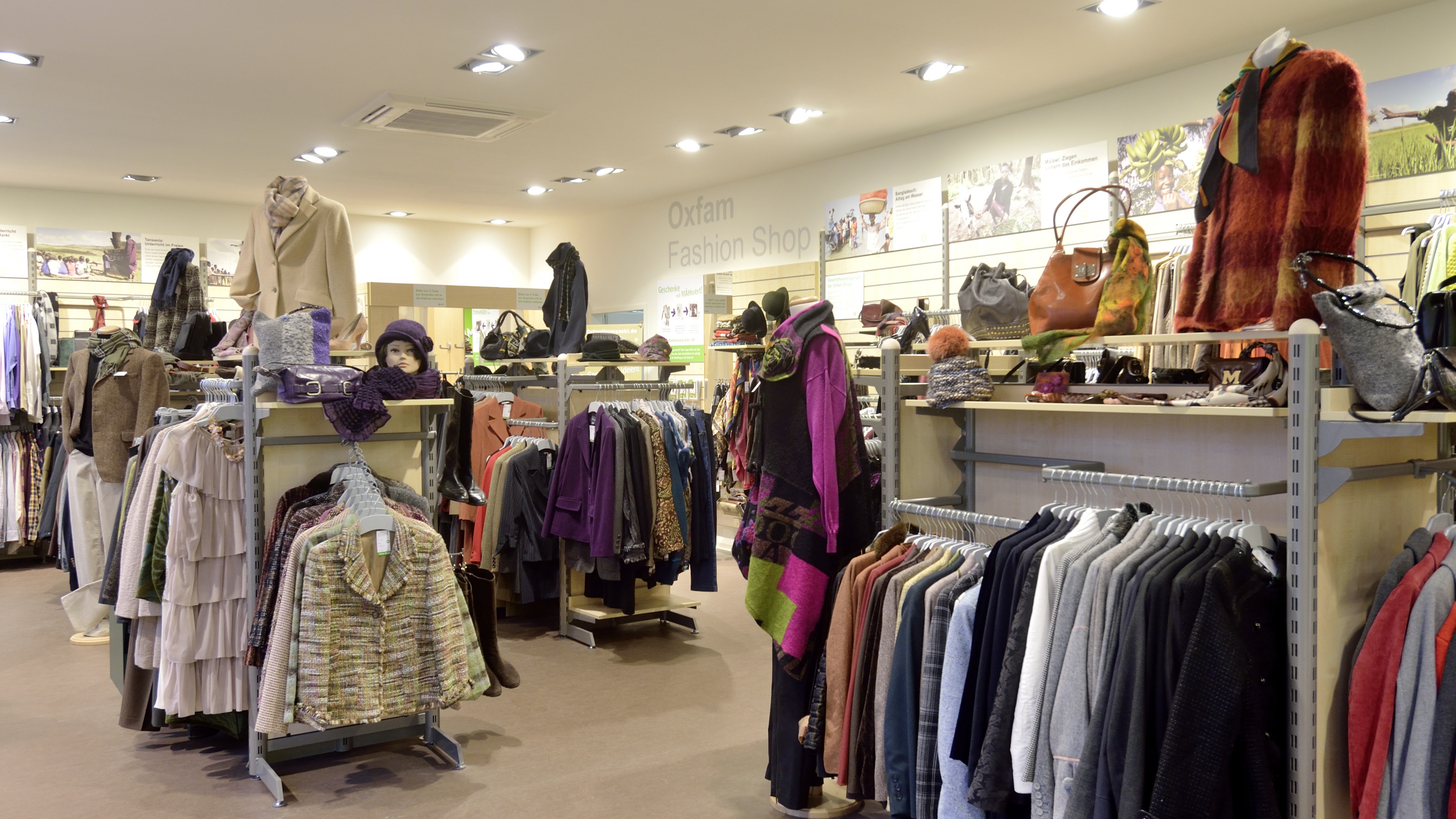 Oxfam Fashionshop München - Innenansicht