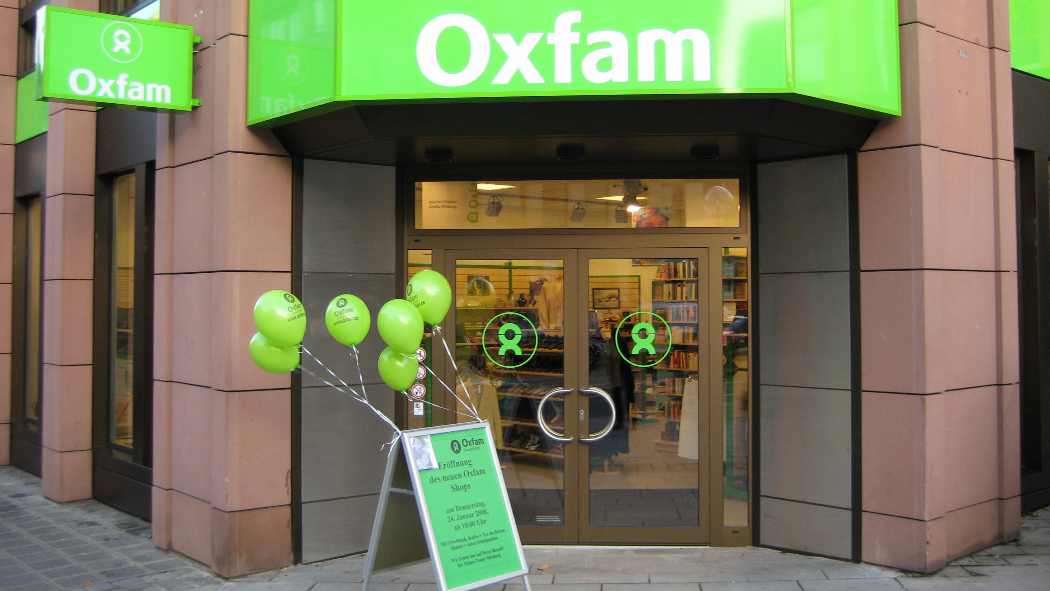 Oxfam Shop Nürnberg - Außenansicht