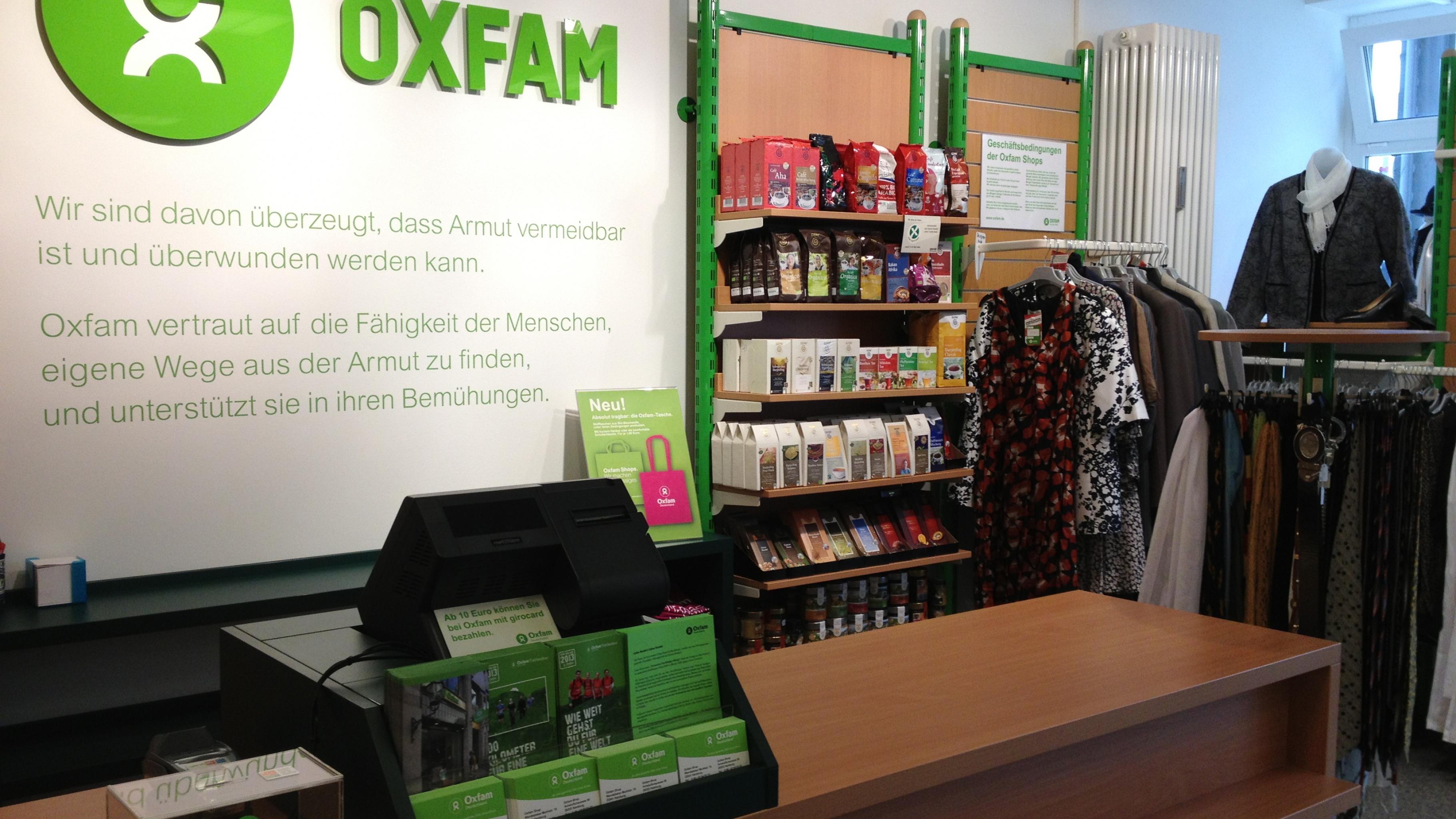Oxfam Shop Hamburg-Wandsbek – Kassenbereich