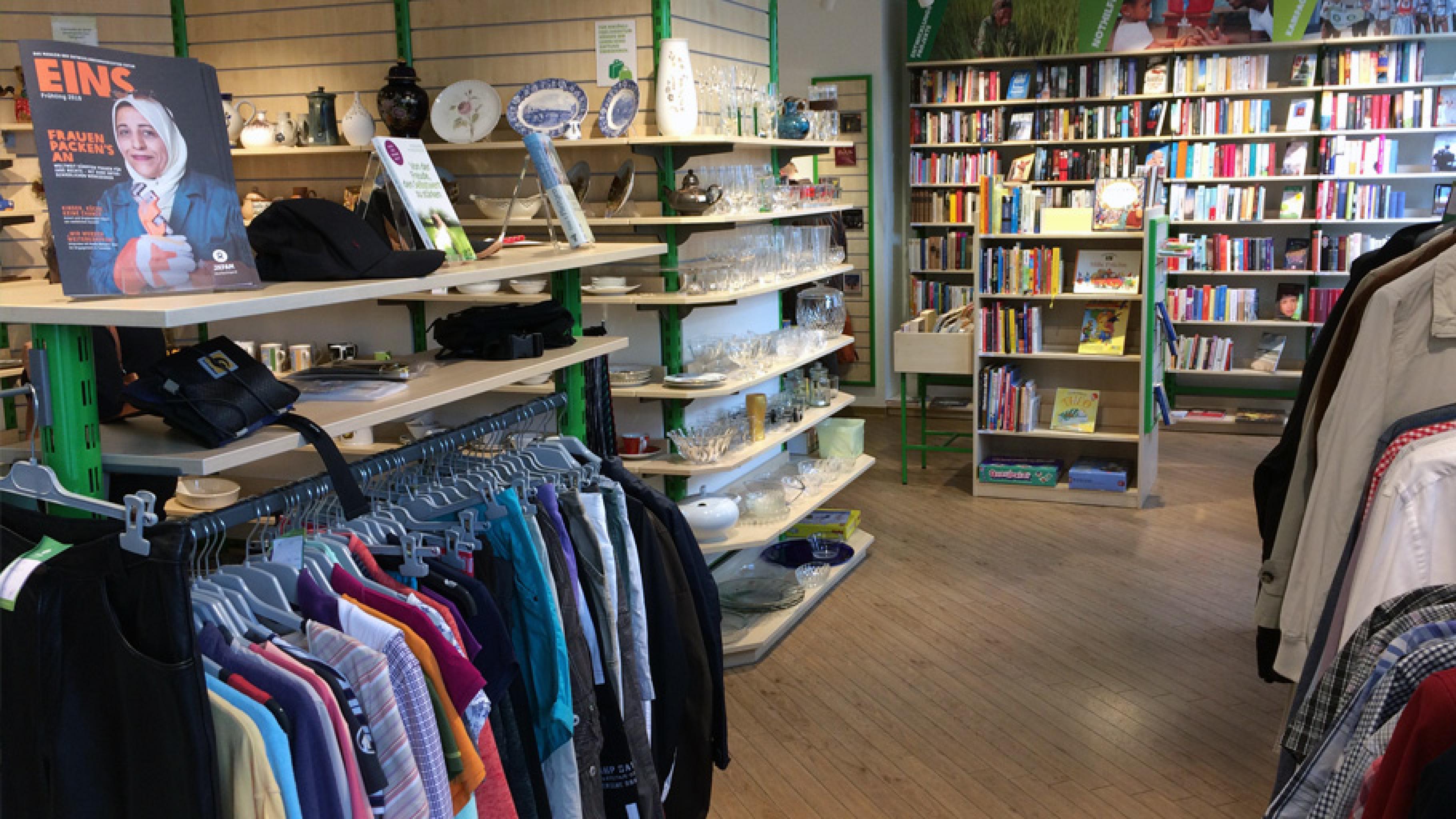 Oxfam Shop Braunschweig - Innenansicht
