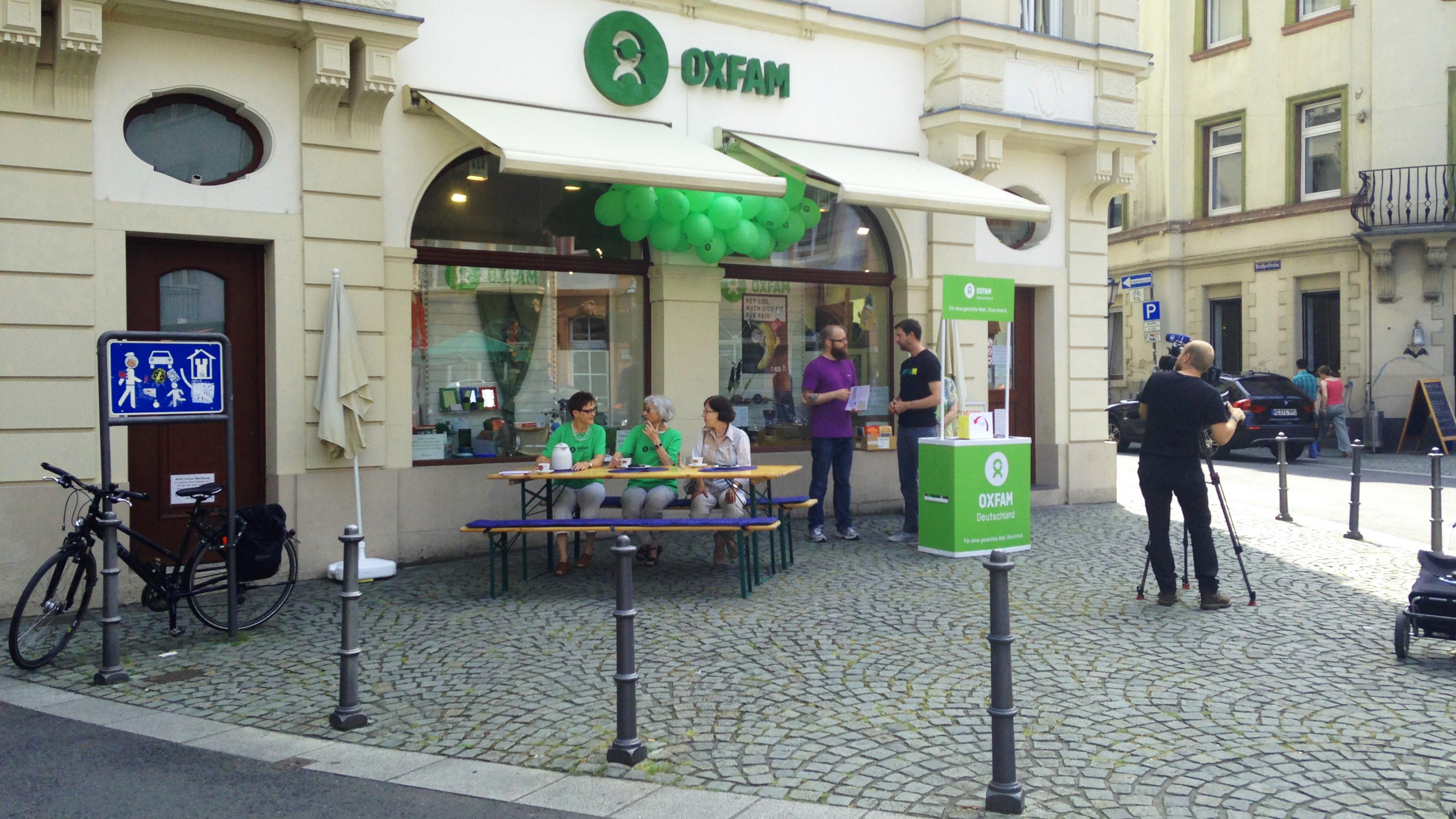 Ein Kamera-Team des SWR beim Kampagnen-Aktionstag 2016 in Mainz