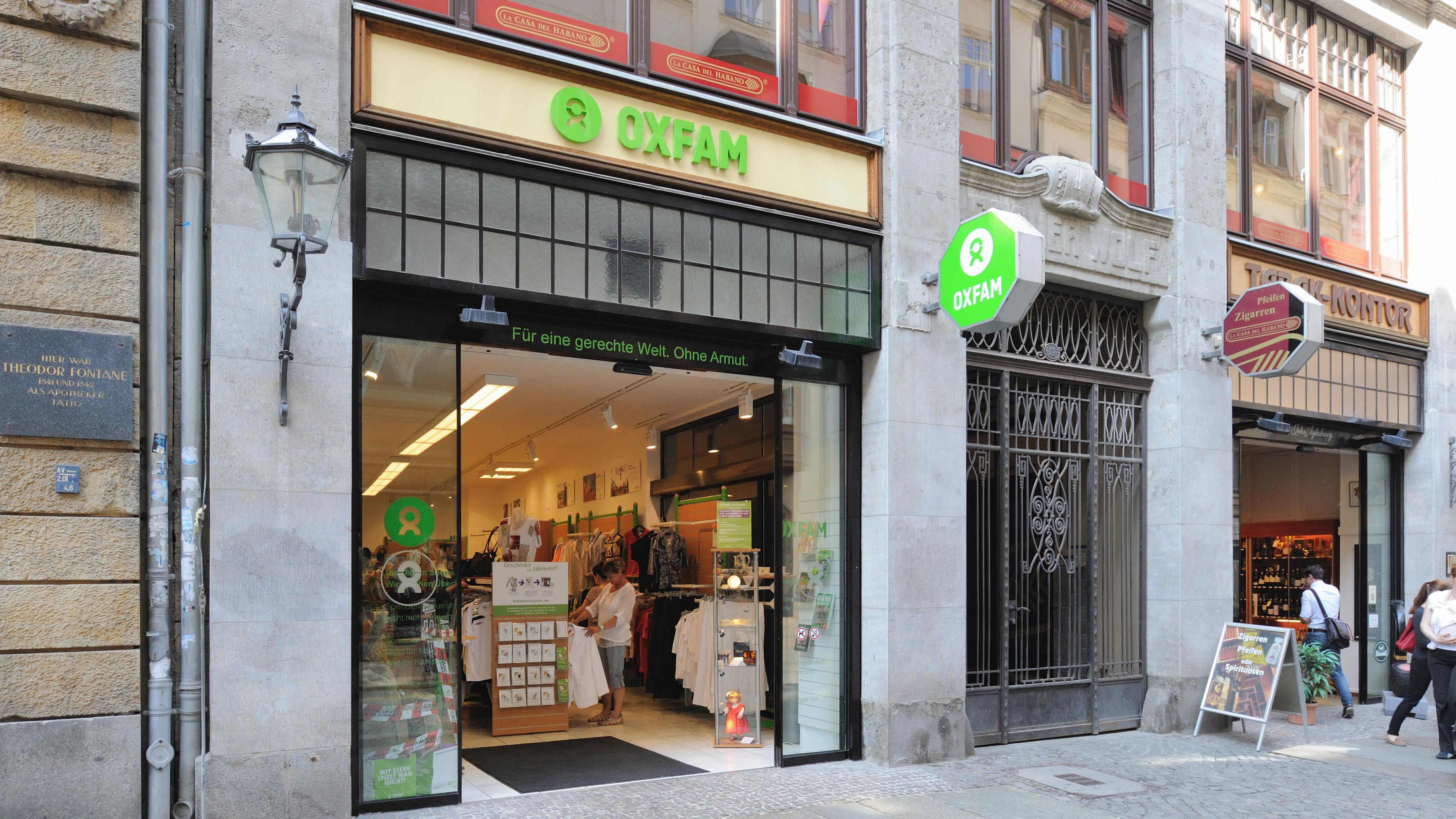 Oxfam Shop Leipzig - Außenansicht
