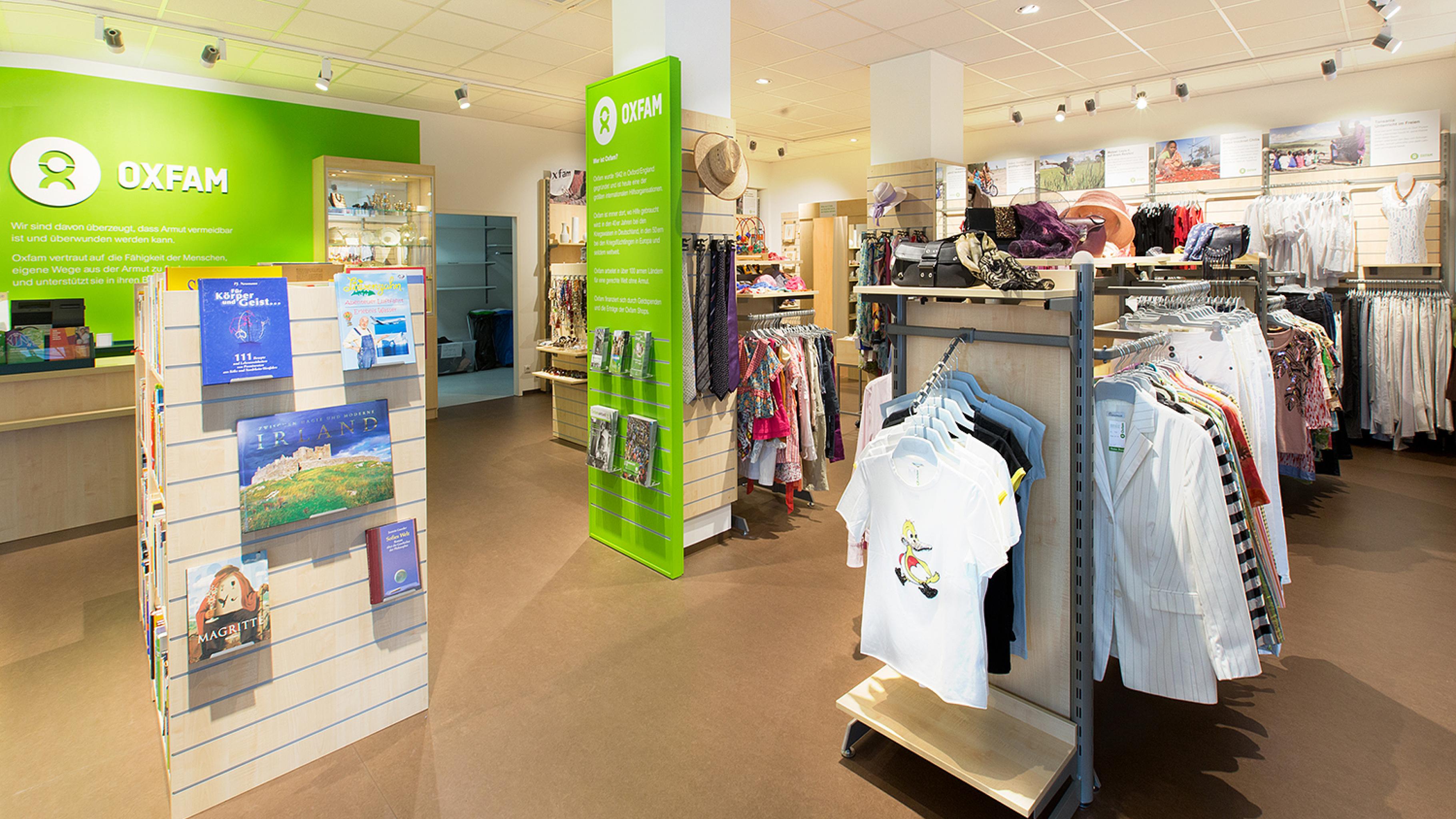 Oxfam Shop Mannheim - Innenansicht