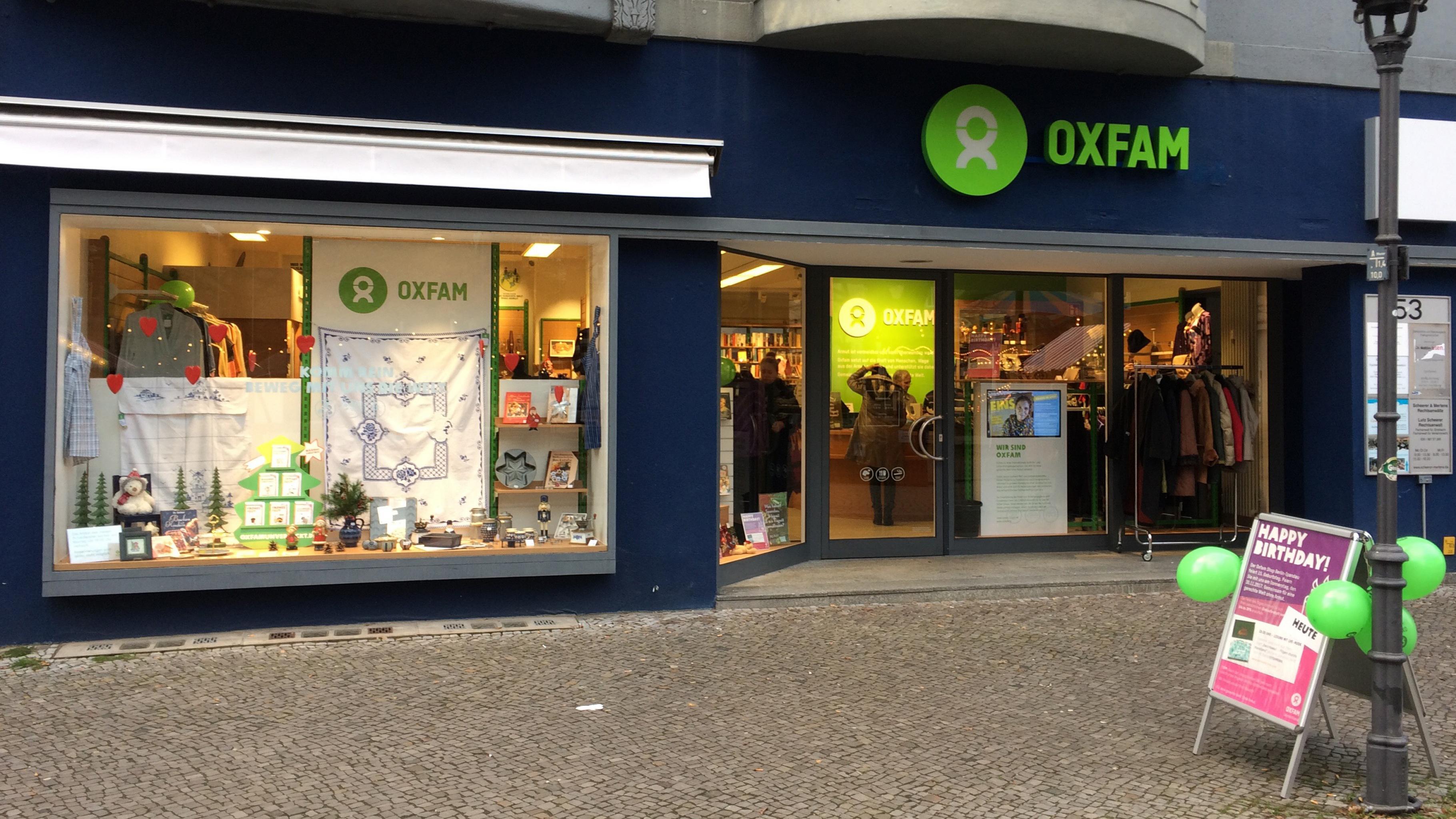 Secondhand kaufen spenden in berlin spandau oxfam shop for Oxfam spenden
