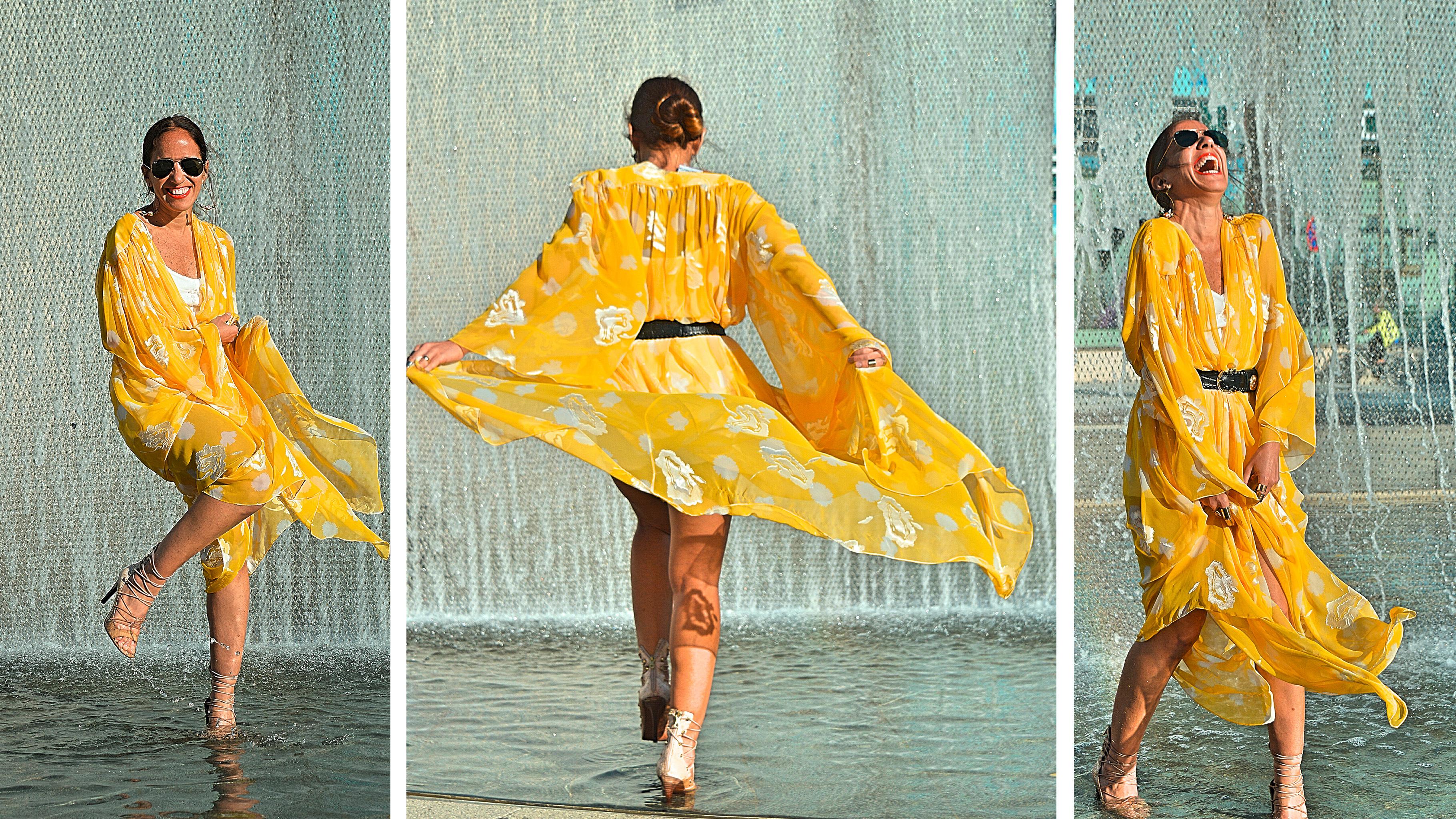 Sommer-Outfit von Stefania: Gelbes Kleid