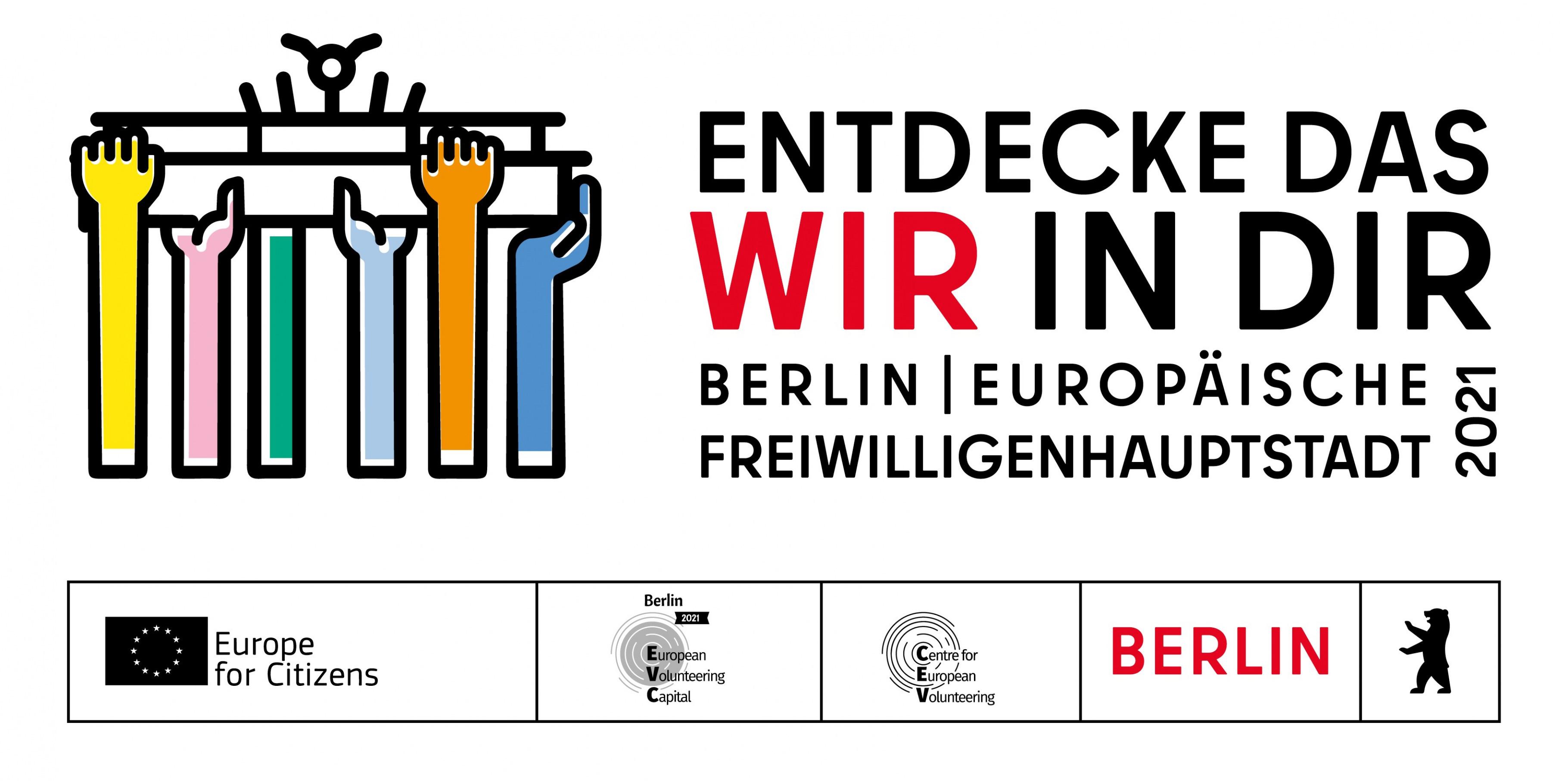 Logo Freiwilligenhauptstadt Berlin 2021