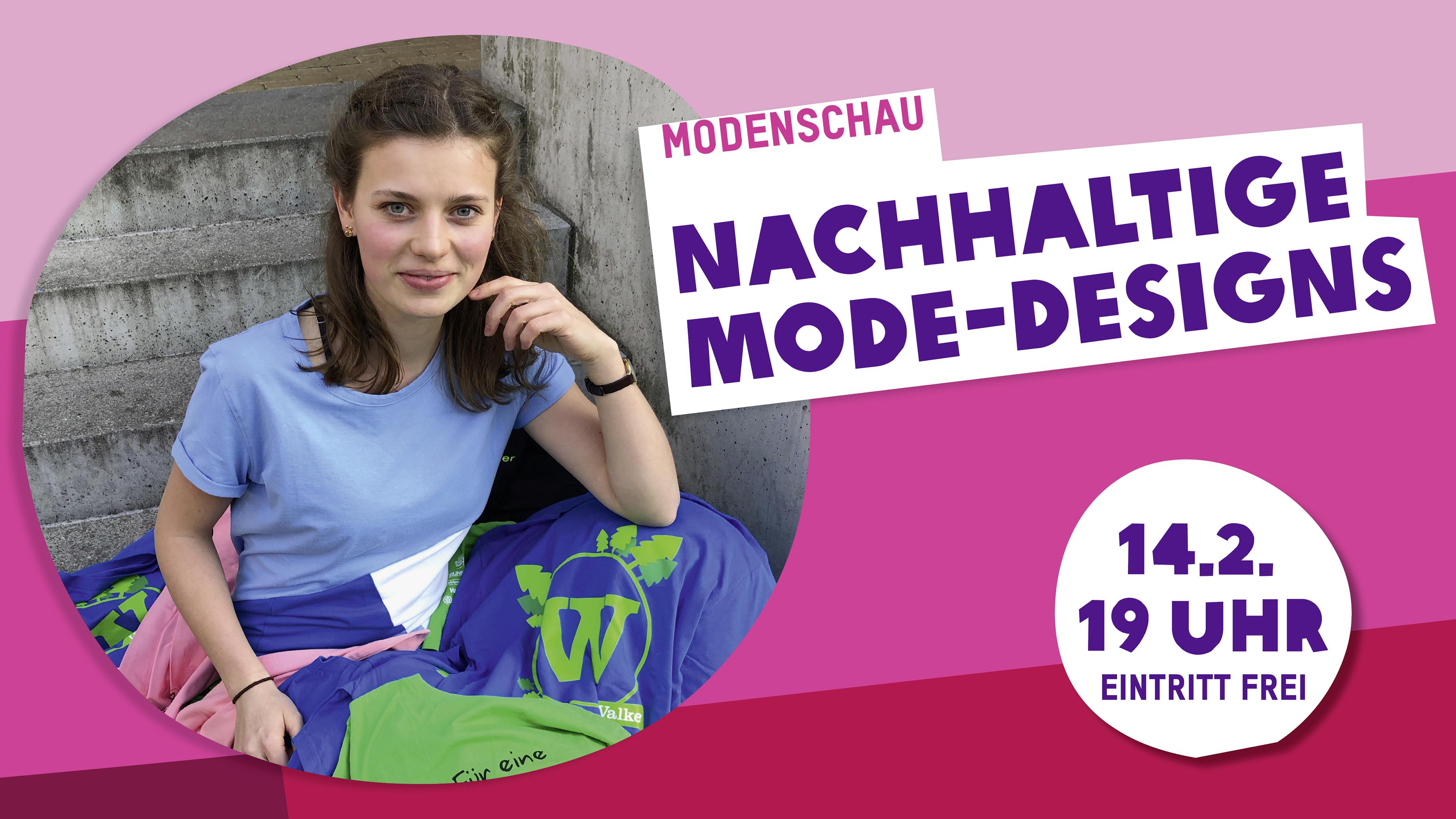 """Anne Werner, eine Studierende des Moduls """"Textil und Mode"""" der TU Berlin mit Oxfam-T-Shirts"""