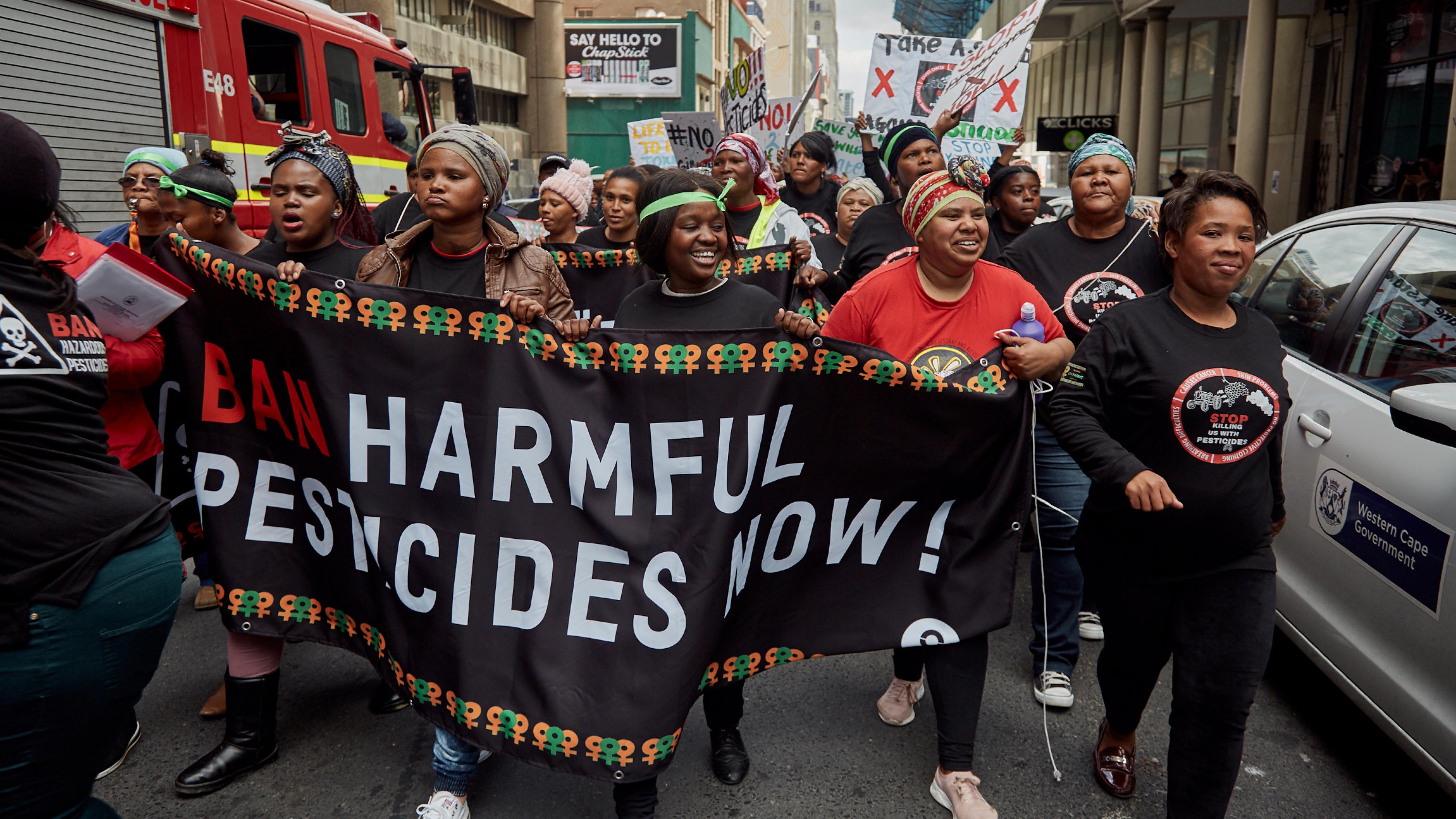 Der Protestmarsch durch Kapstadt