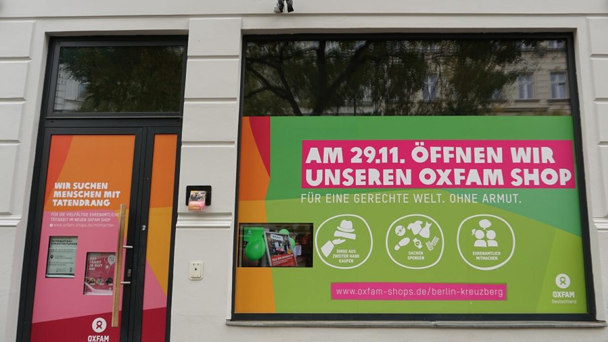 Neueröffnung des Oxfam Shop Berlin-Kreuzberg am 29. November 2018