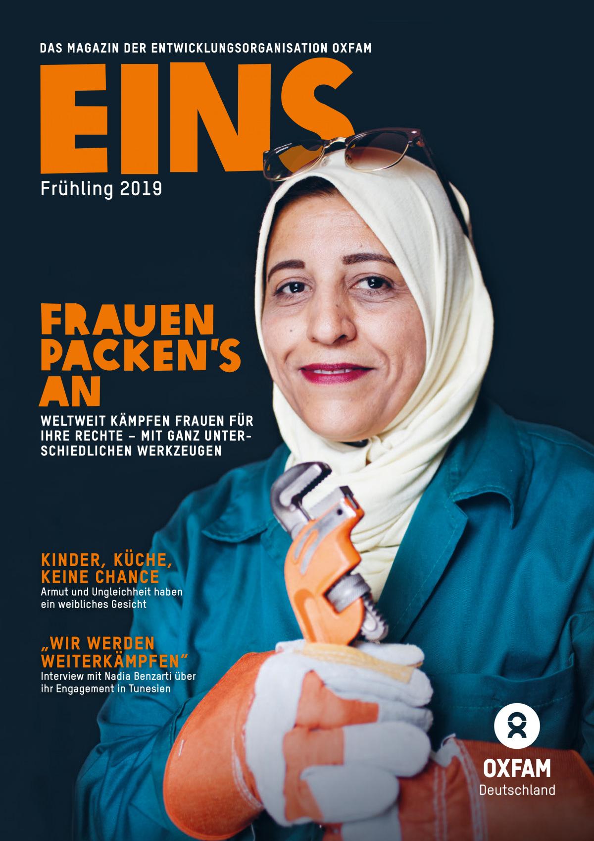 Titelbild der EINS-Frühjahrsausgabe 2019