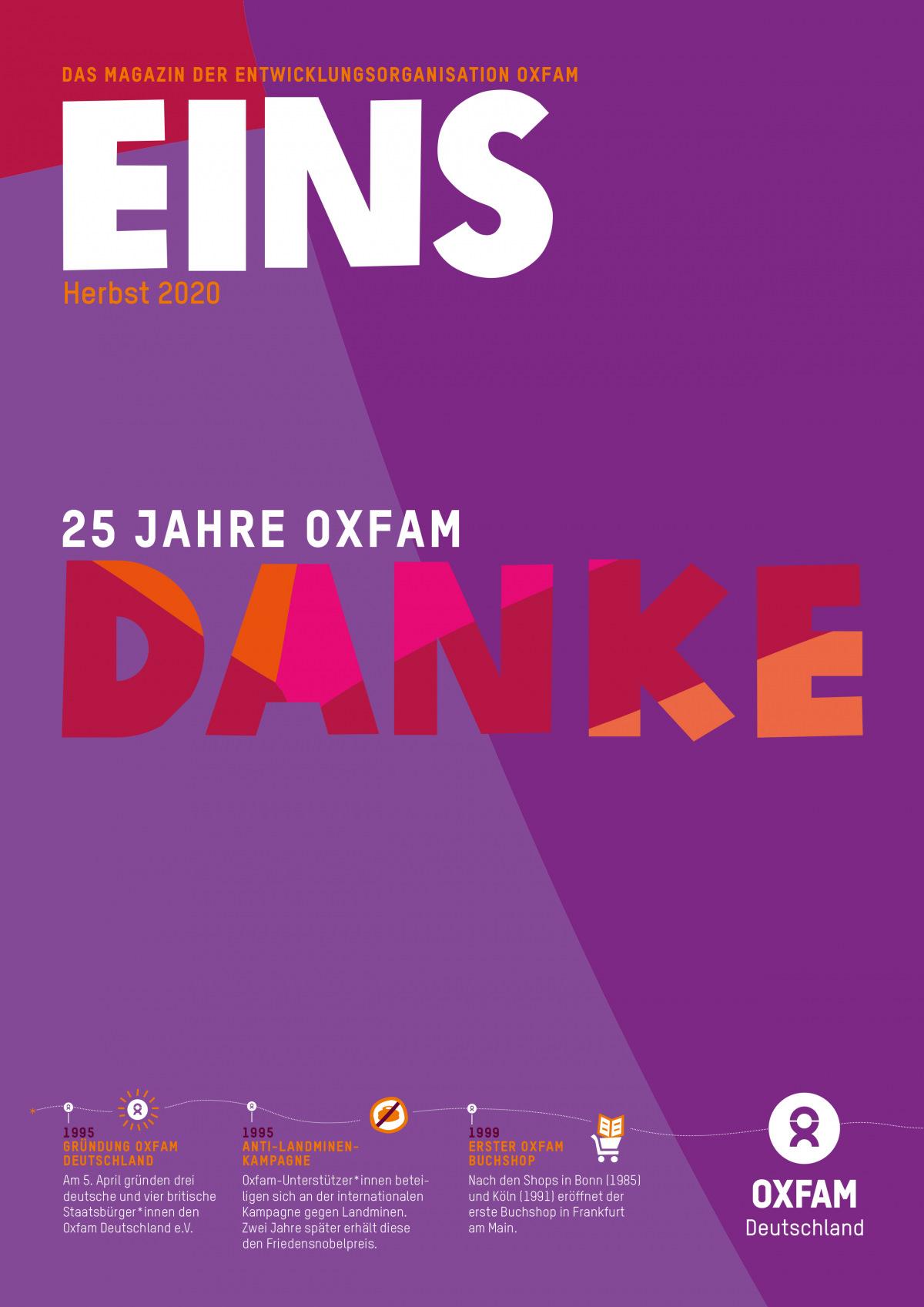 Herbstausgabe der EINS 2020: Titelbild der Jubiläumsausgabe