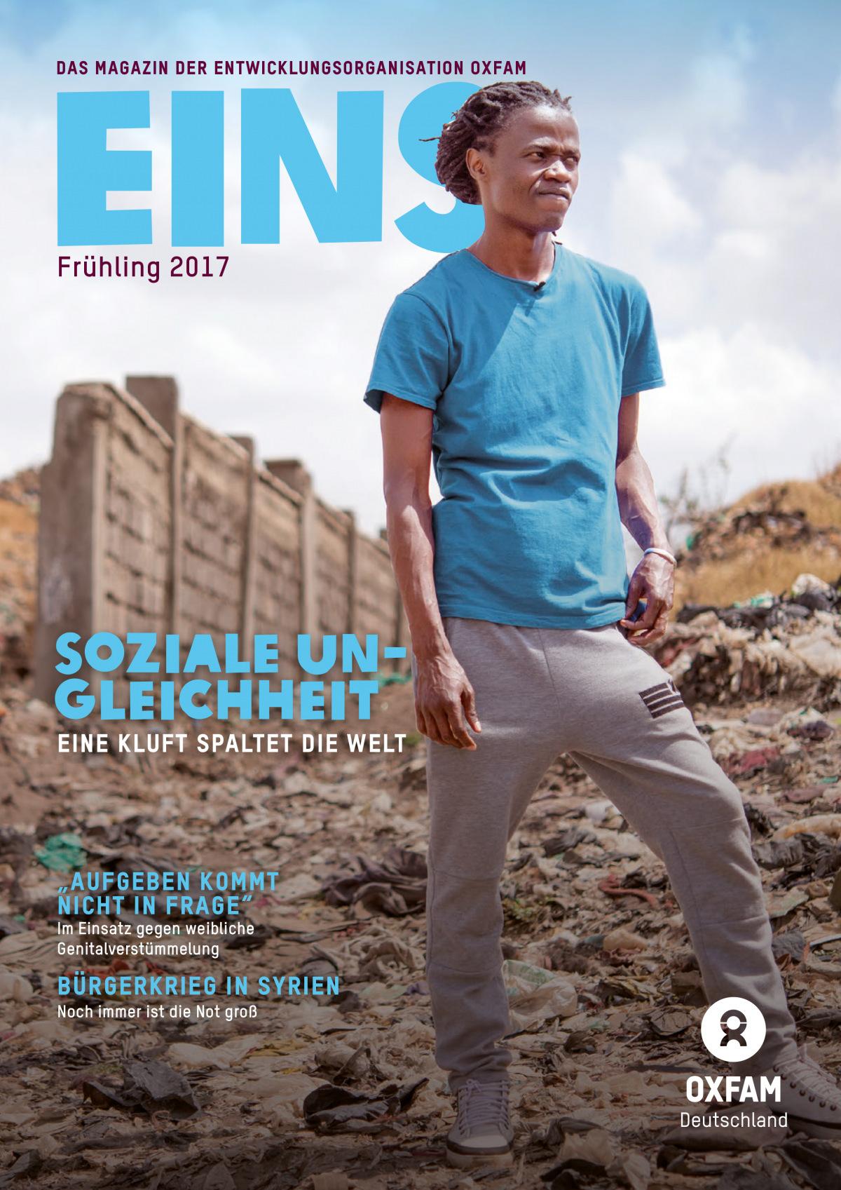 Titelbild vom Oxfam-Magazin EINS (Frühjahr 2017)