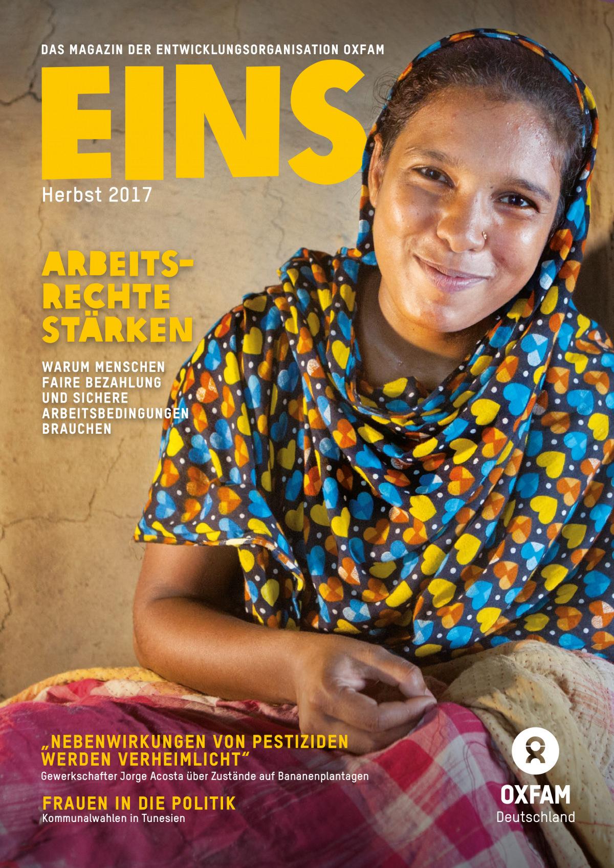 Titelbild vom Oxfam-Magazin EINS (Herbst 2017)