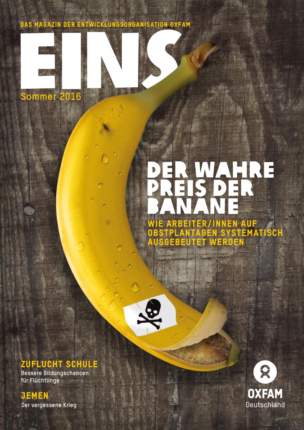 Titelbild vom Oxfam-Magazin EINS (Sommer 2016)