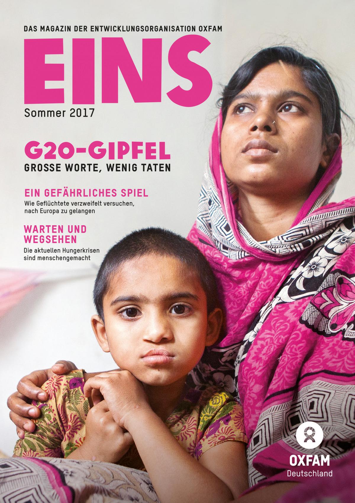 Titelbild vom Oxfam-Magazin EINS (Sommer 2017)