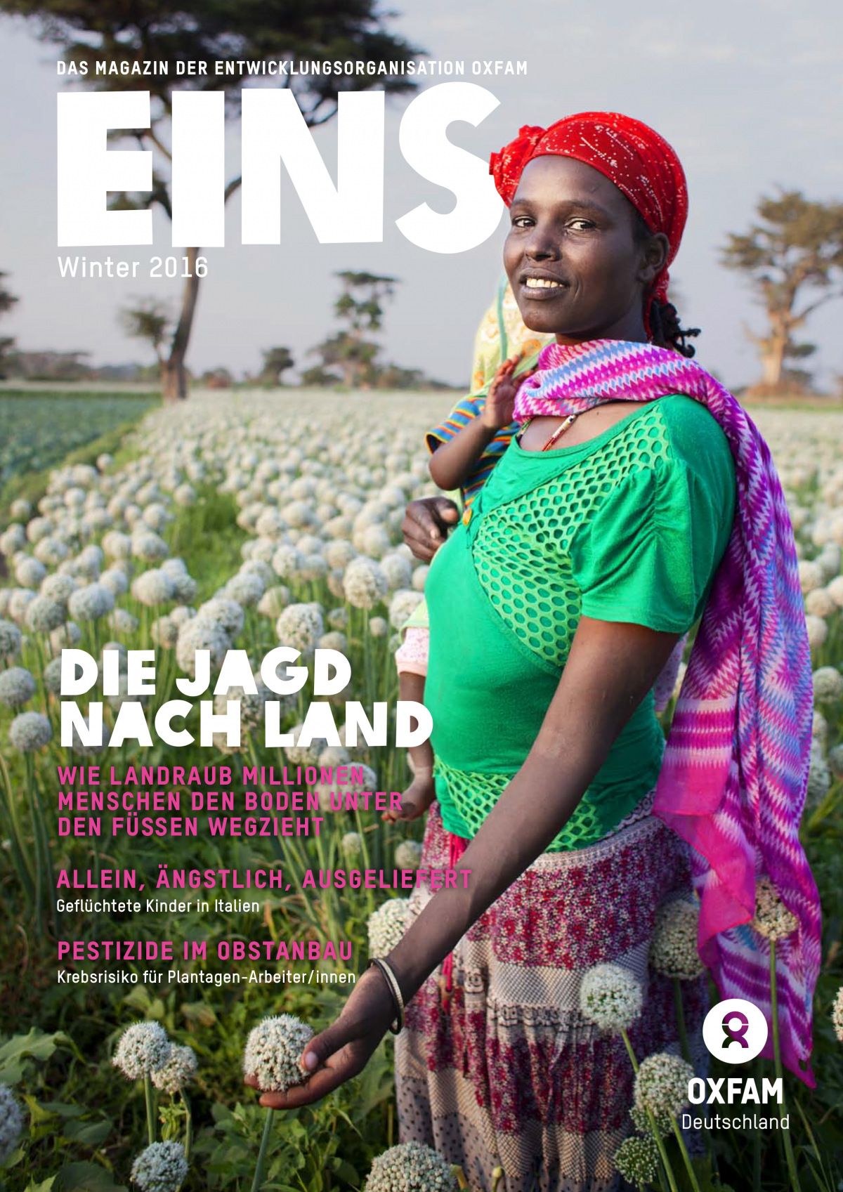 Titelbild vom Oxfam-Magazin EINS (Winter 2016)
