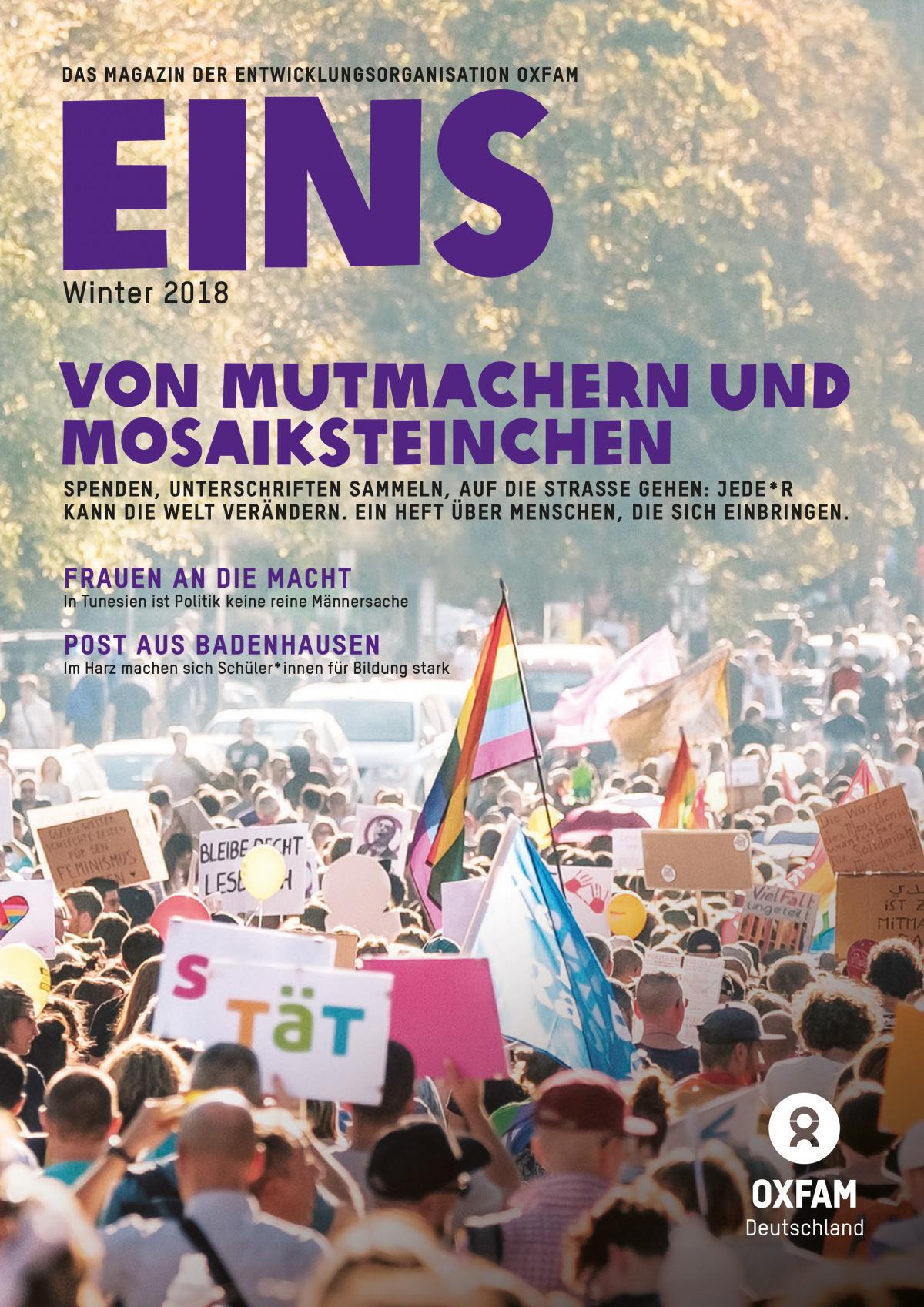 Titelseite der EINS-Winterausgabe 2018