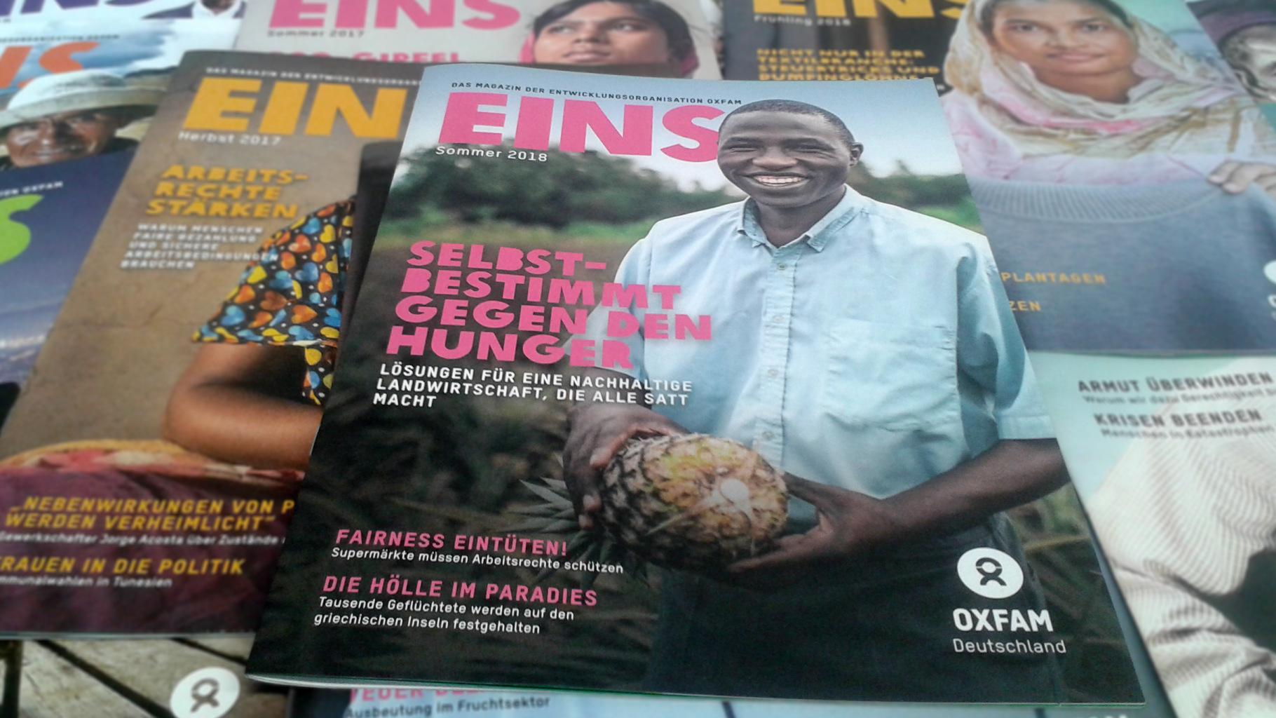 EINS: Das Titelbild der Sommer-Ausgabe 2018