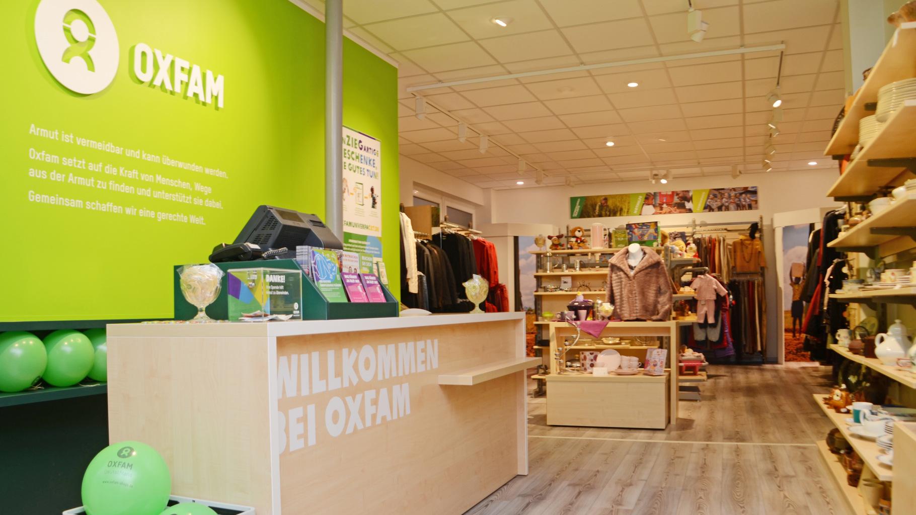 Oxfam Shop Essen - Innenansicht