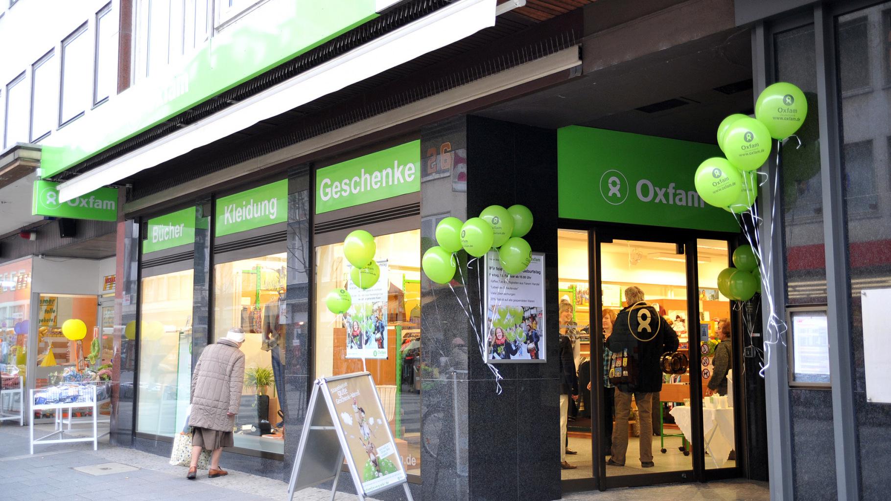 Außenansicht des Oxfam Shops Koblenz