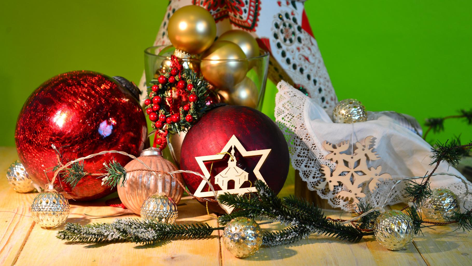 weihnachtliche Dekoration aus dem Oxfam Shop
