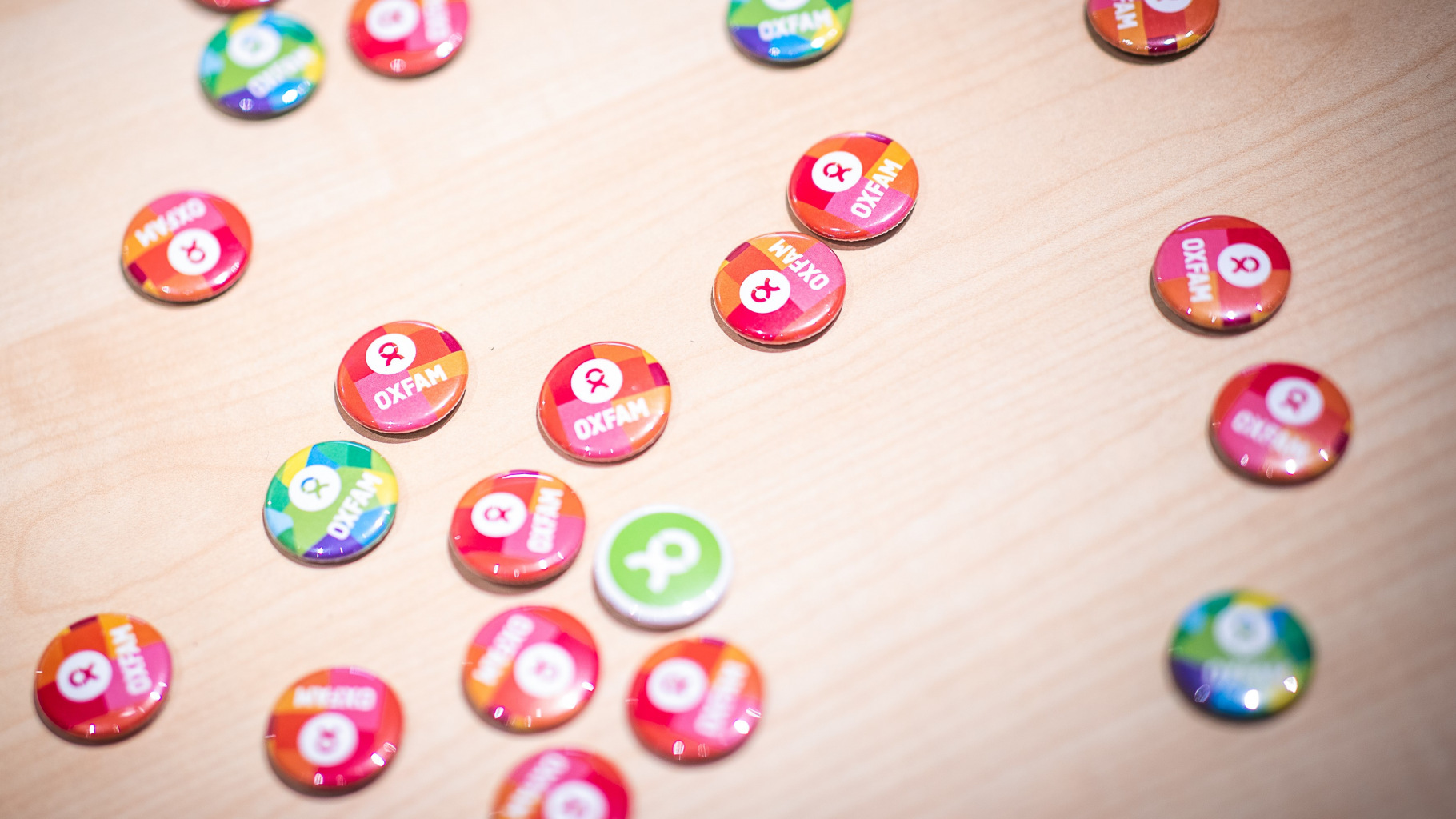 Oxfam-Buttons