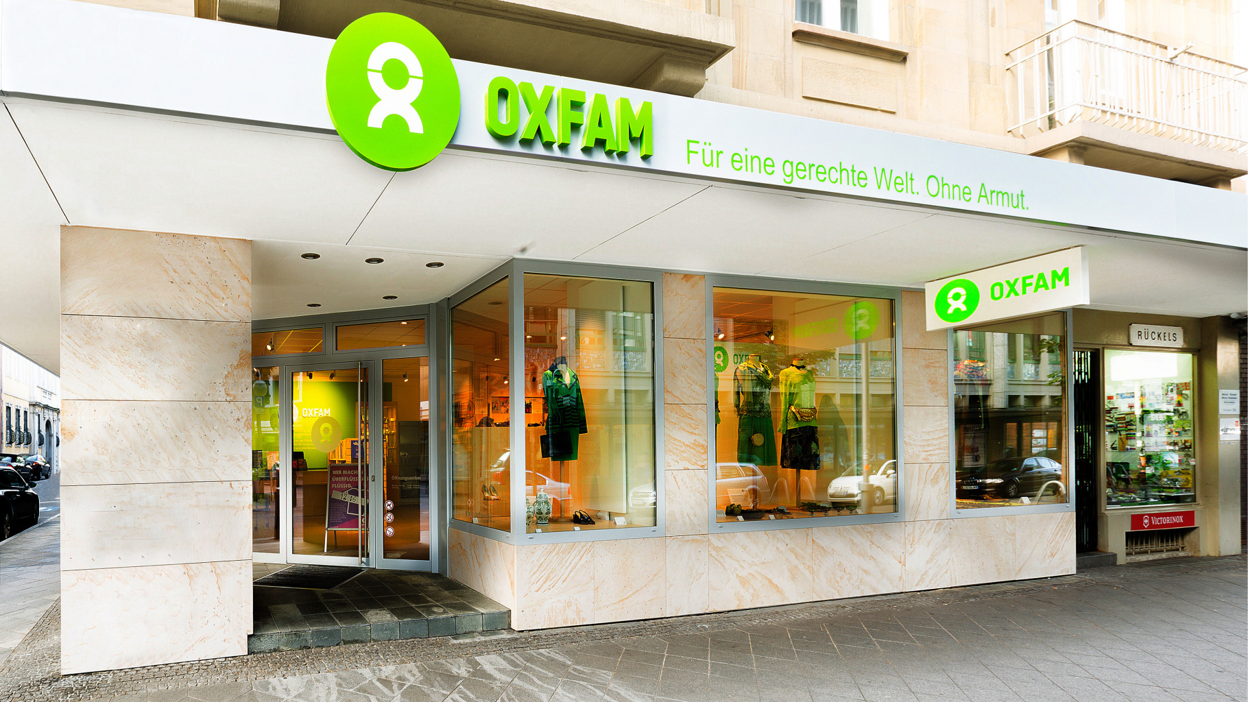 Oxfam Shop Mannheim - Außenansicht