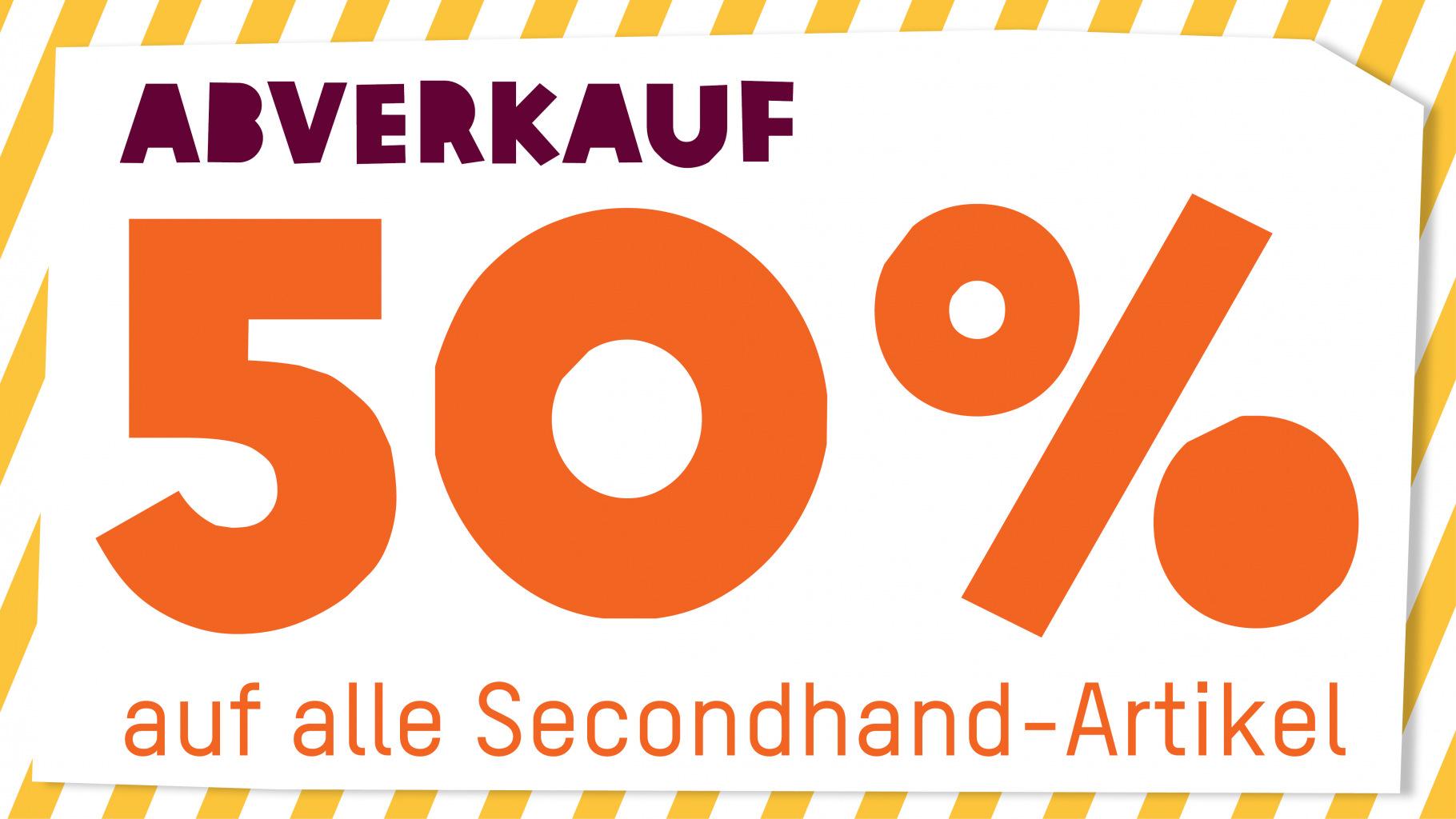Beim Abverkauf im  Oxfam Shop gibt es 50 Prozent Rabatt auf Secondhand-Artikel