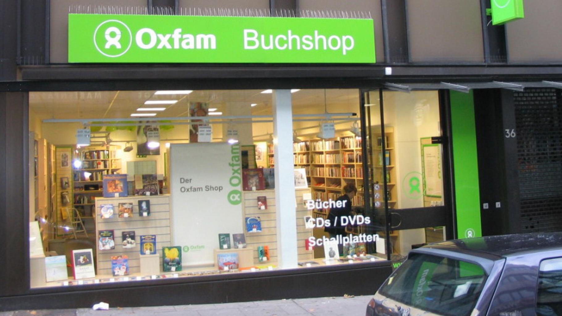 Oxfam Buchshop Stuttgart - Außenansicht