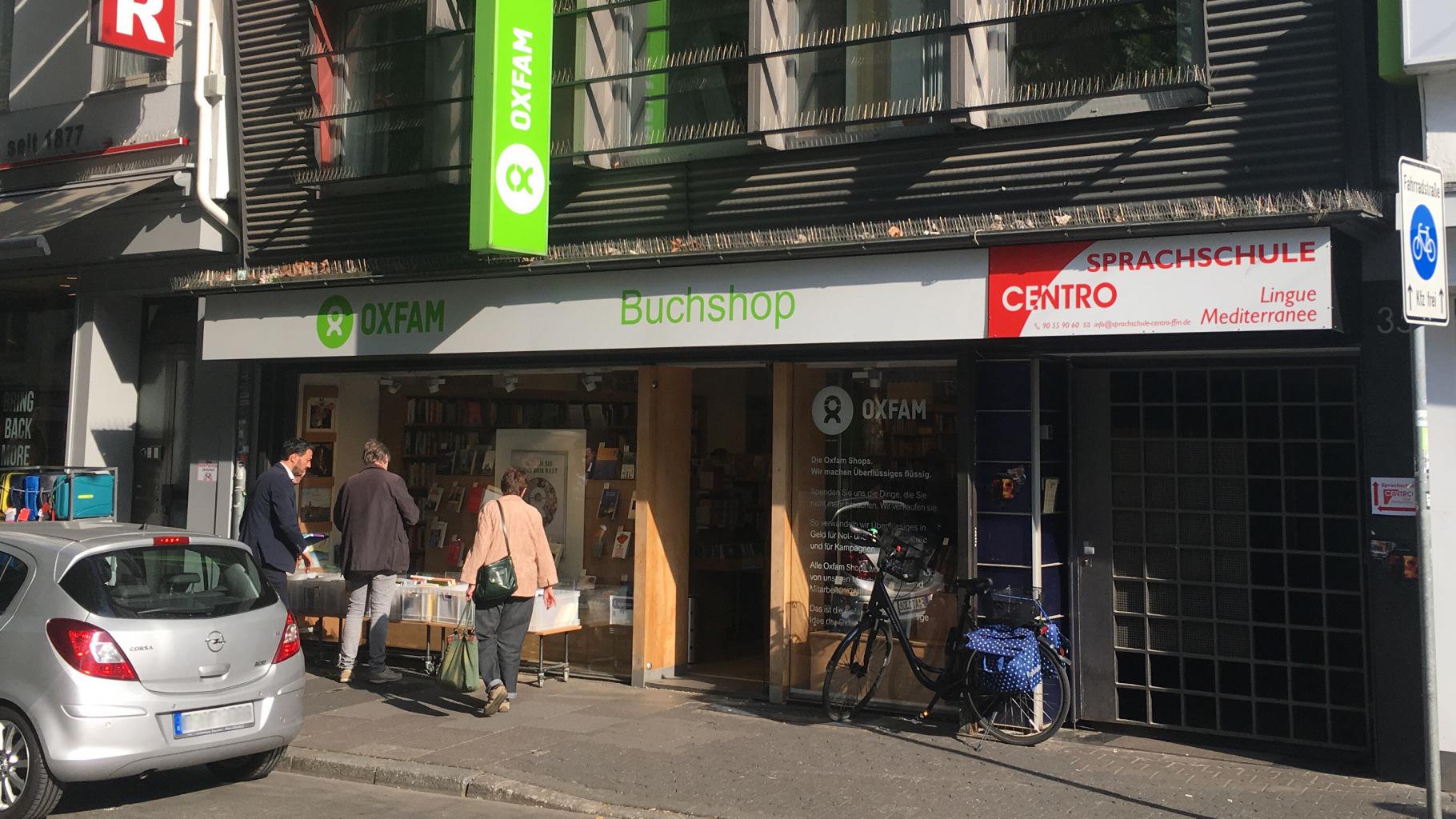 Oxfam Buchshop Frankfurt - Außenansicht