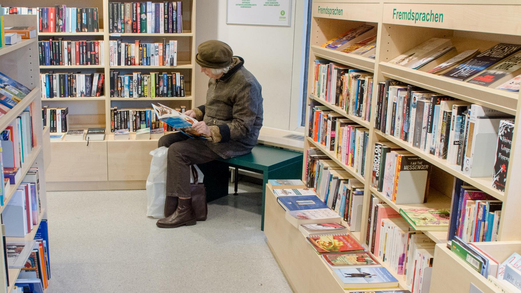 Fremdsprachige Bücher im Oxfam Shop
