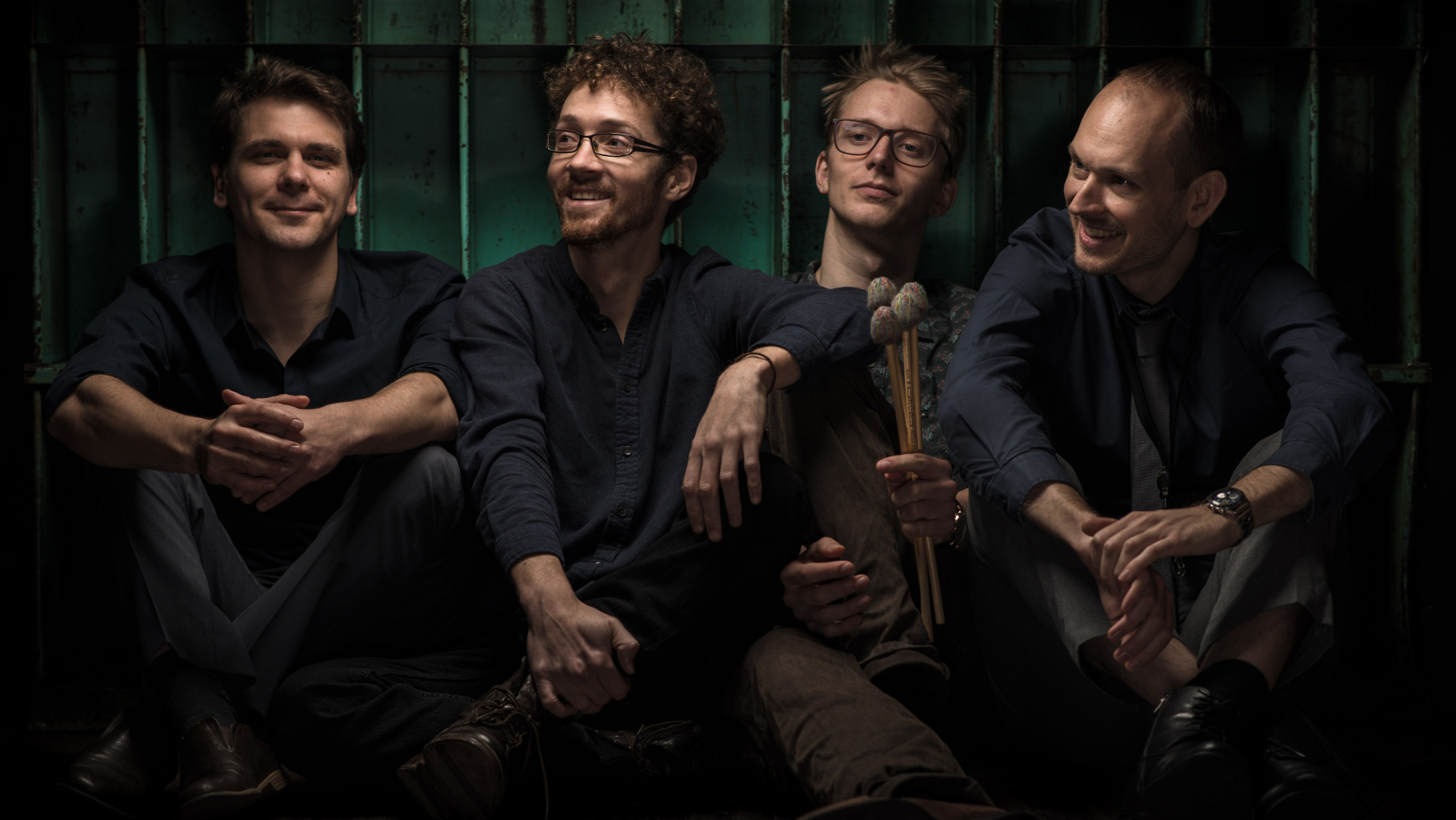 "Swing-Quartett ""Chat Noir"": Christian Fischer, François Giroux, Hauke Renken und Amadeus Chiodi (v.l.)"