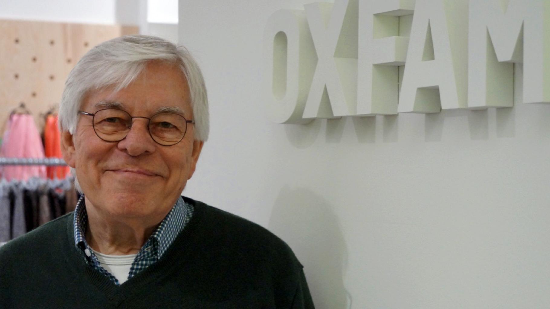 der Ehrenamtliche Christoph Höpfner aus dem Oxfam MOVE Berlin