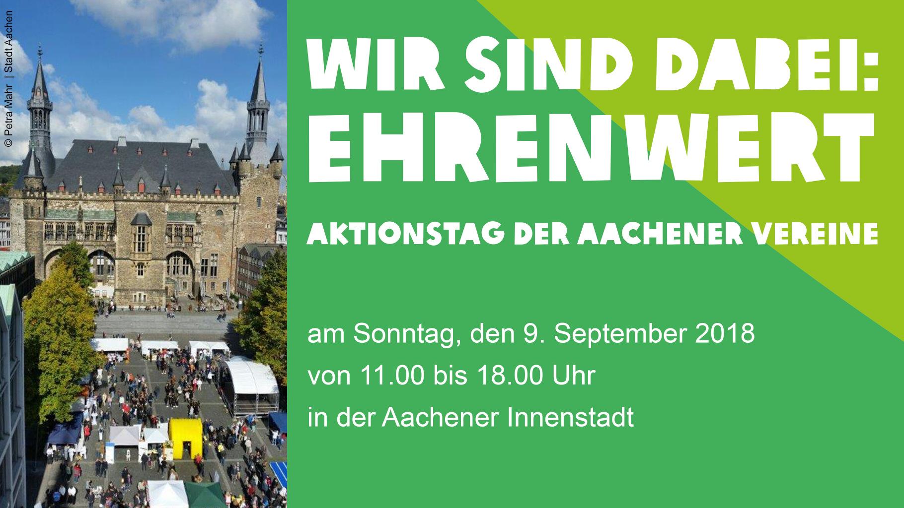 Ehrenamtliche aus dem Oxfam Shop Aachen machen beim Aktionstag Ehrenwert mit