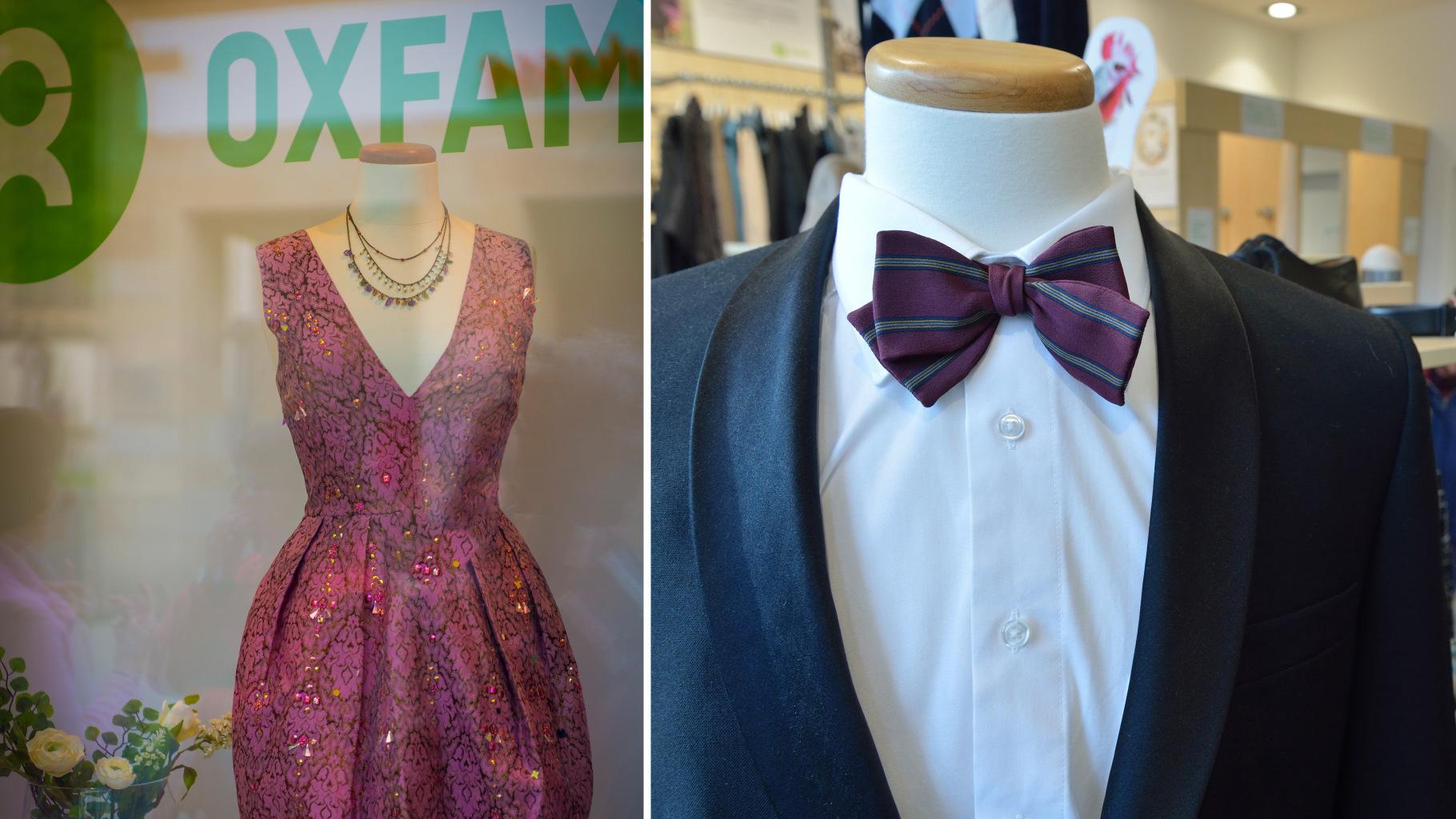 festliche Kleidung für den Abiball im Oxfam Shop