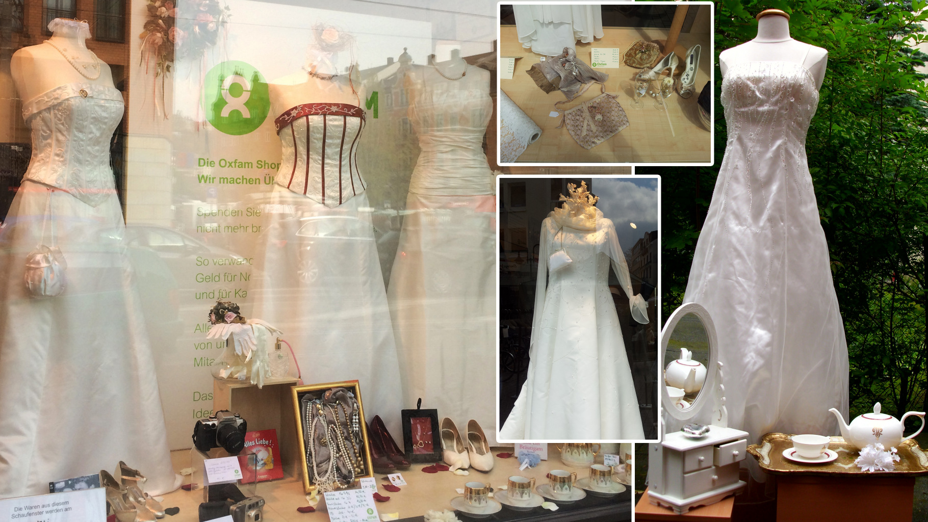 Brautmode im Oxfam Shop