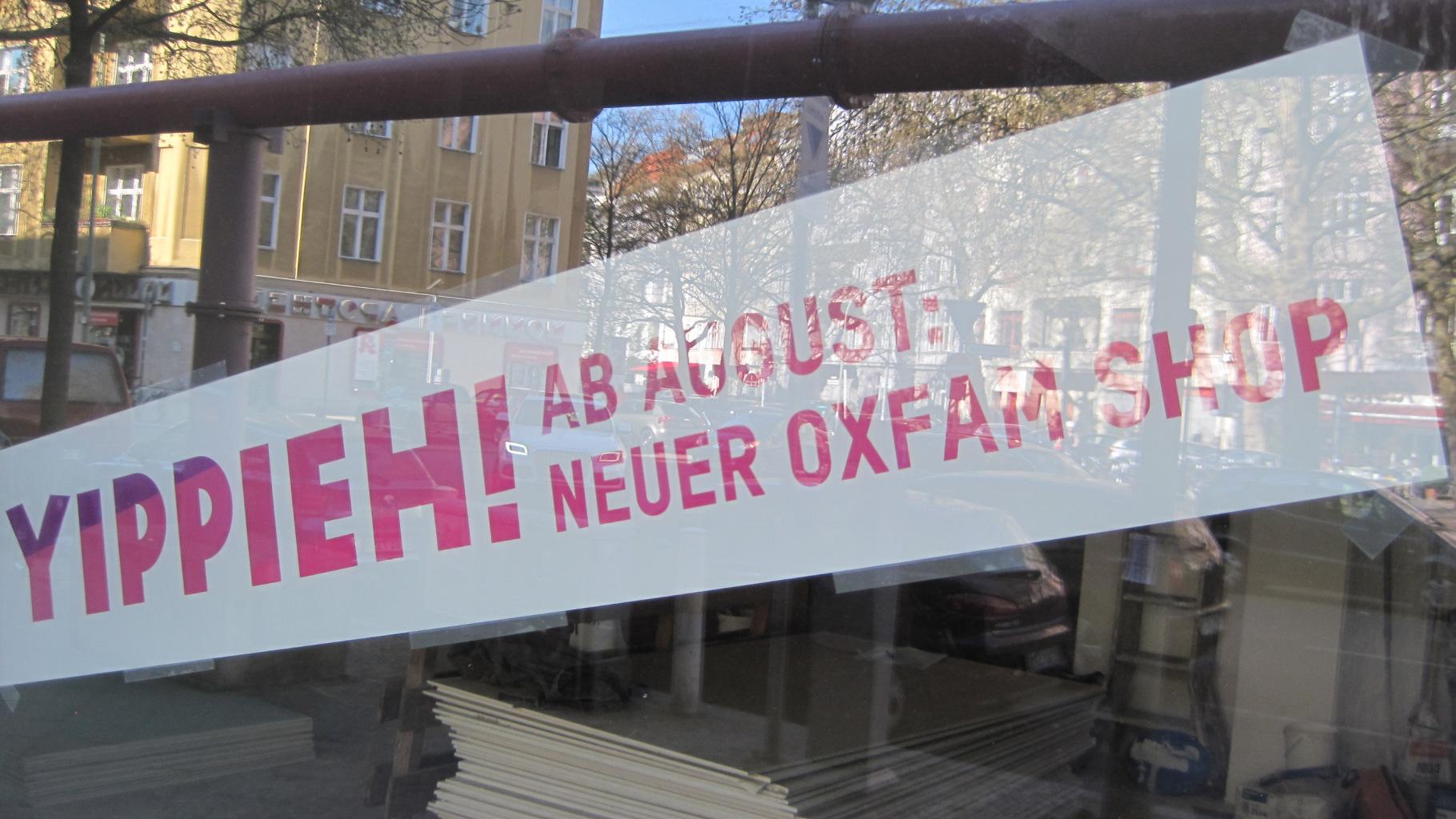 Oxfam MOVE Berlin demnächst in Charlottenburg