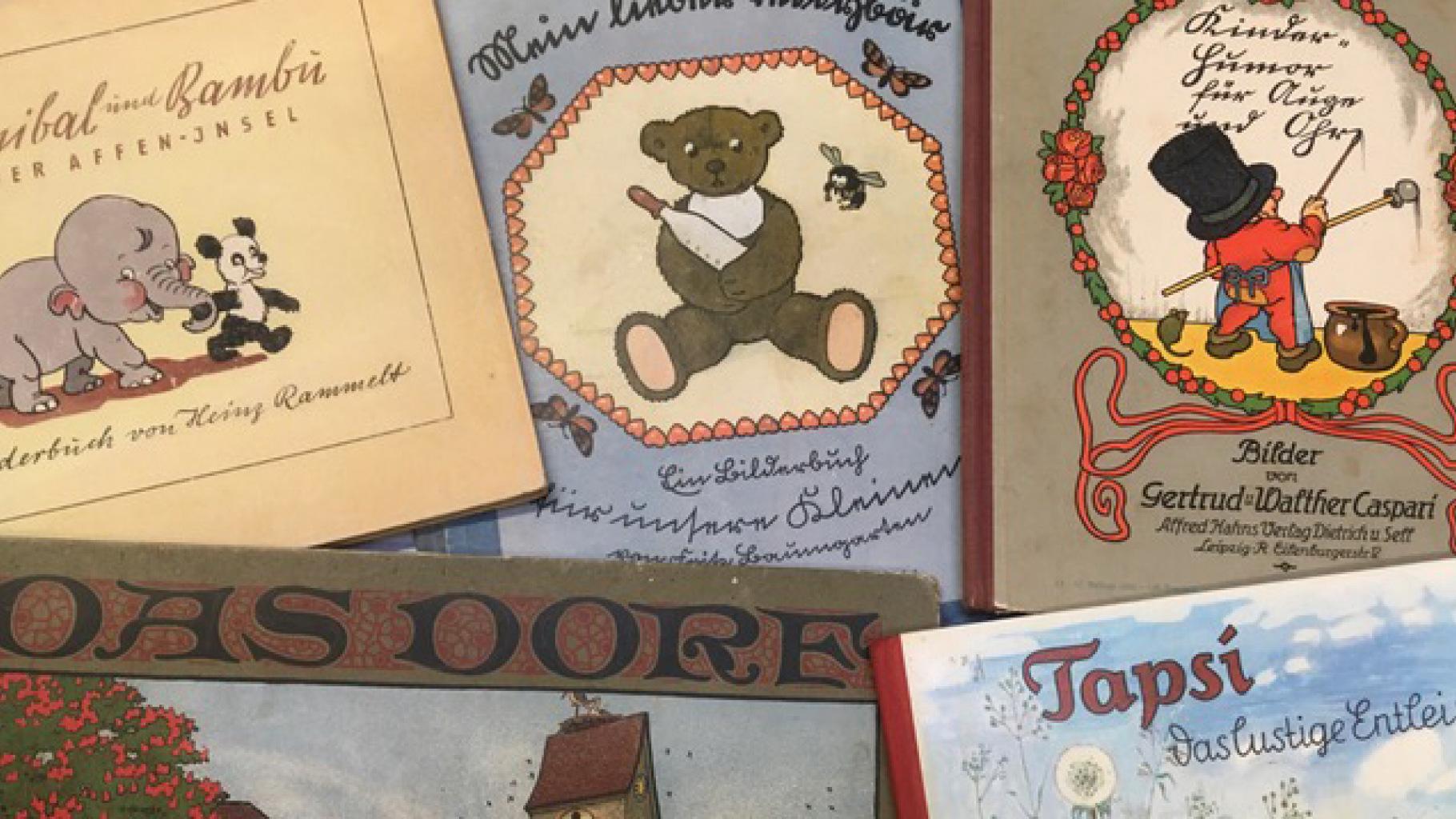 Kinderbücher aus vergangenen Zeiten im Oxfam Shop