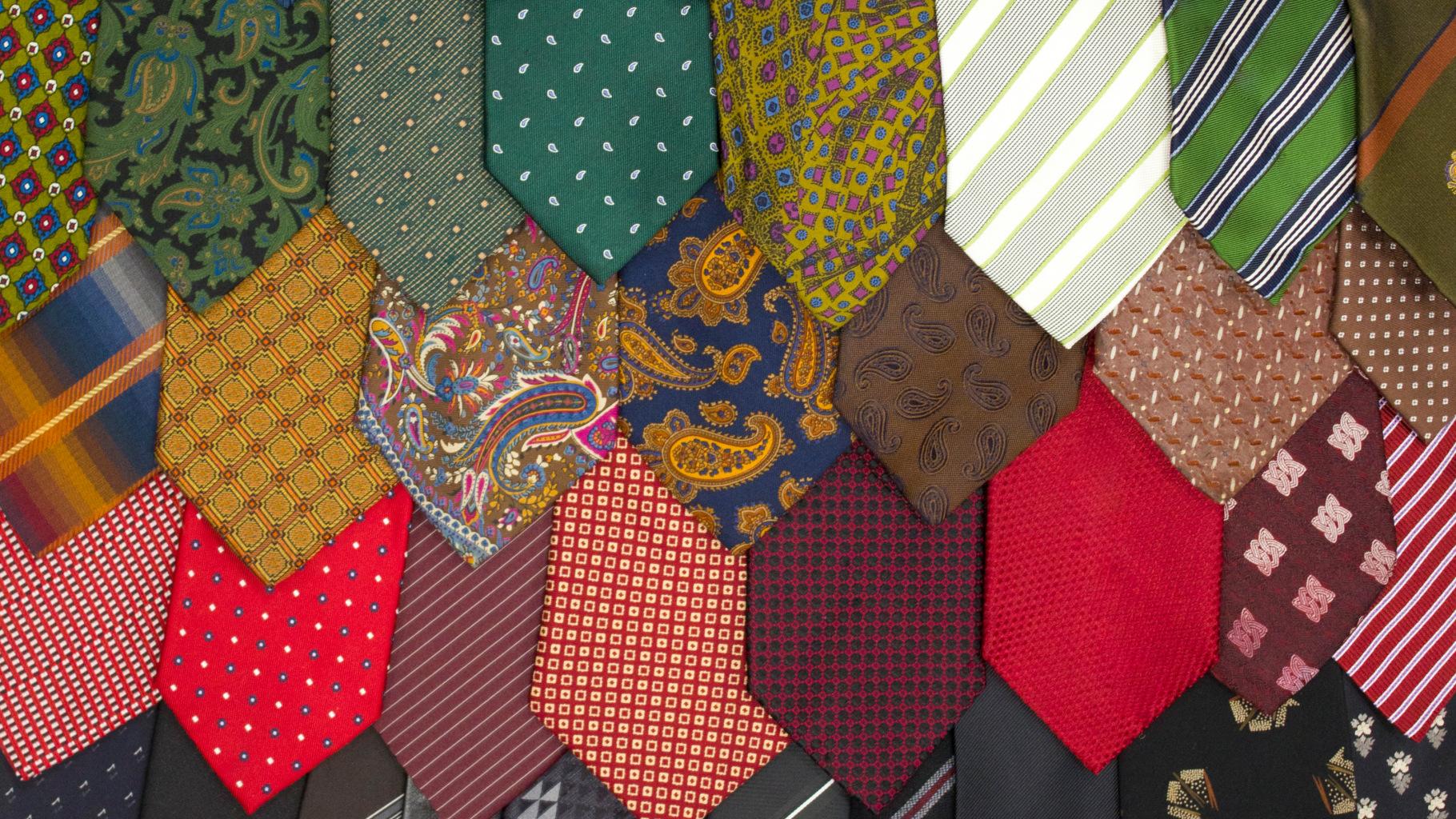 Krawatten im Oxfam Shop