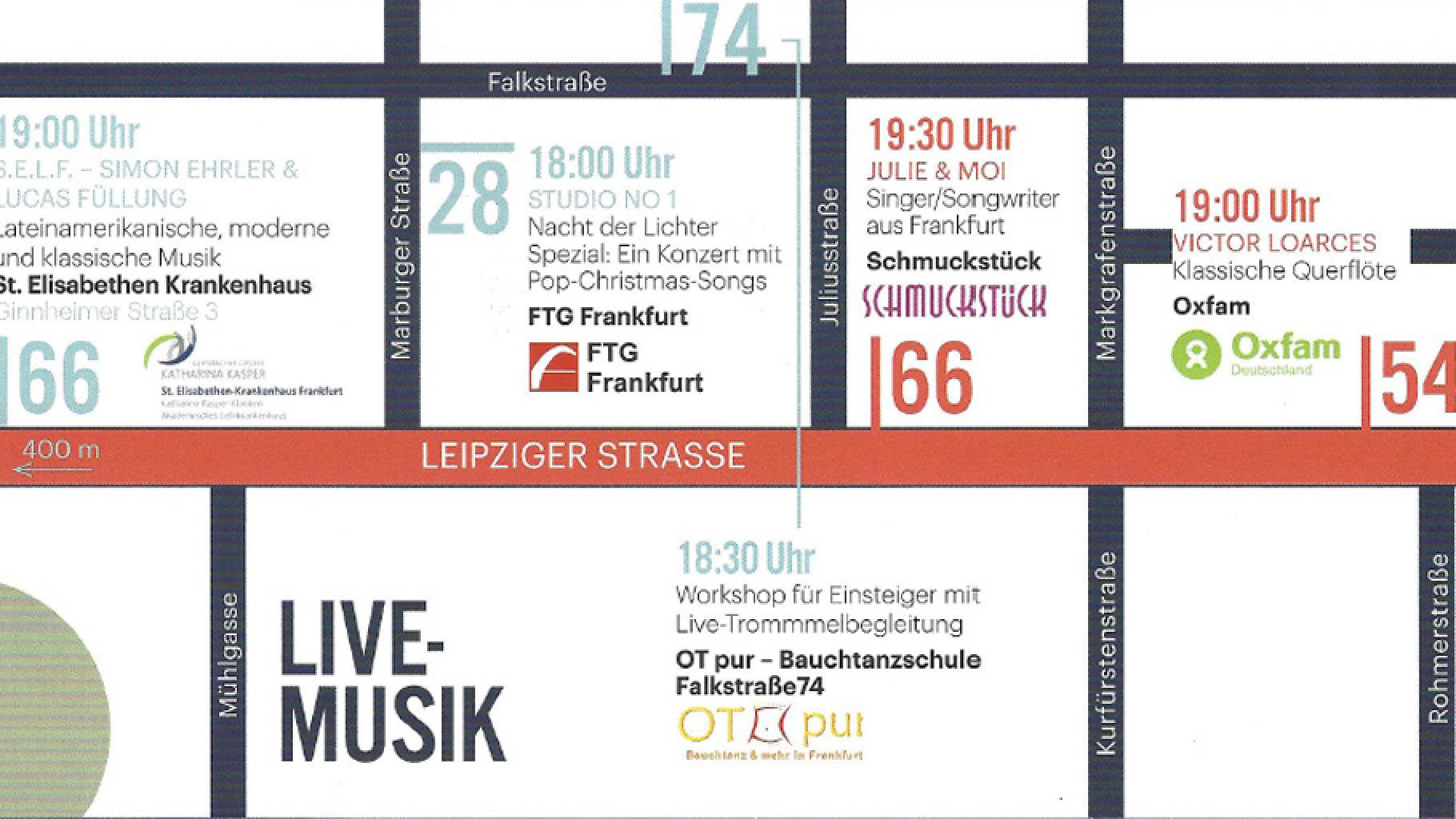 Oxfam Fashionshop Frankfurt Bockenheim: Nacht der Lichter 2018 mit Live-Musik