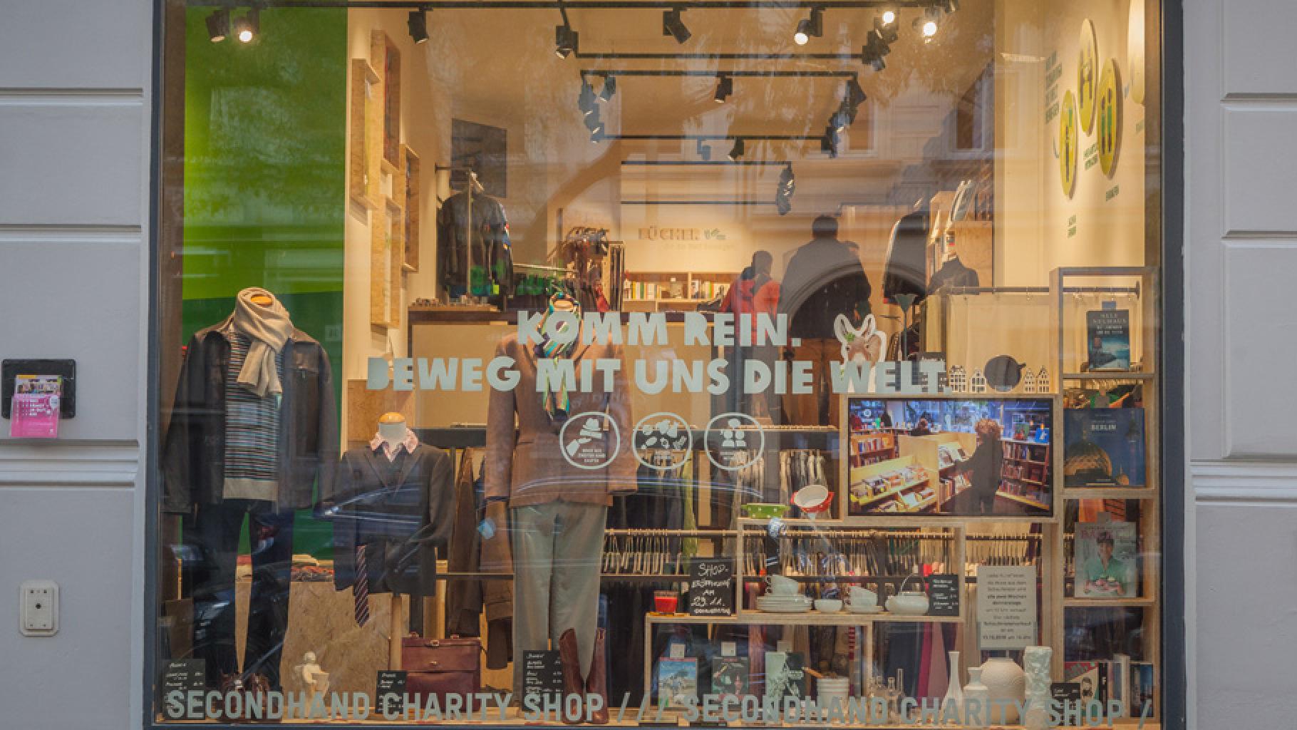 Außenansicht Oxfam Shop Berlin-Kreuzberg