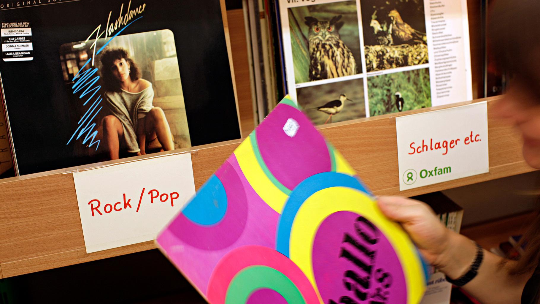 Schallplatten im Oxfam Shop