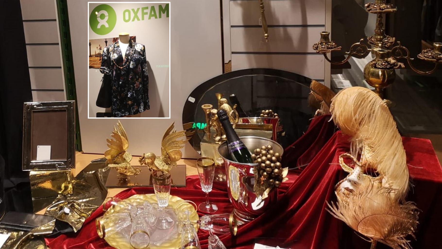 Schaufenster des Oxfam Shops in Hamburg-Hoheluft